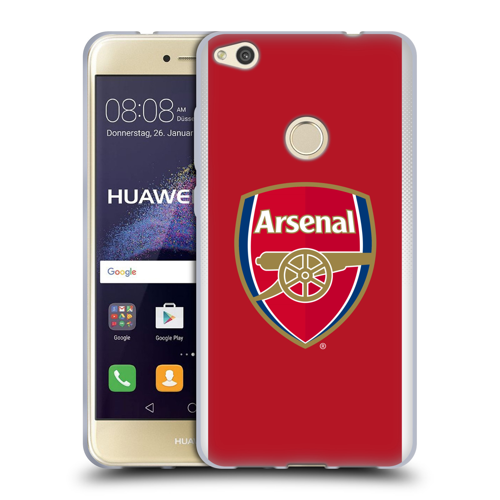 Silikonové pouzdro na mobil Huawei P9 Lite (2017) - Head Case - Arsenal FC - Logo klubu