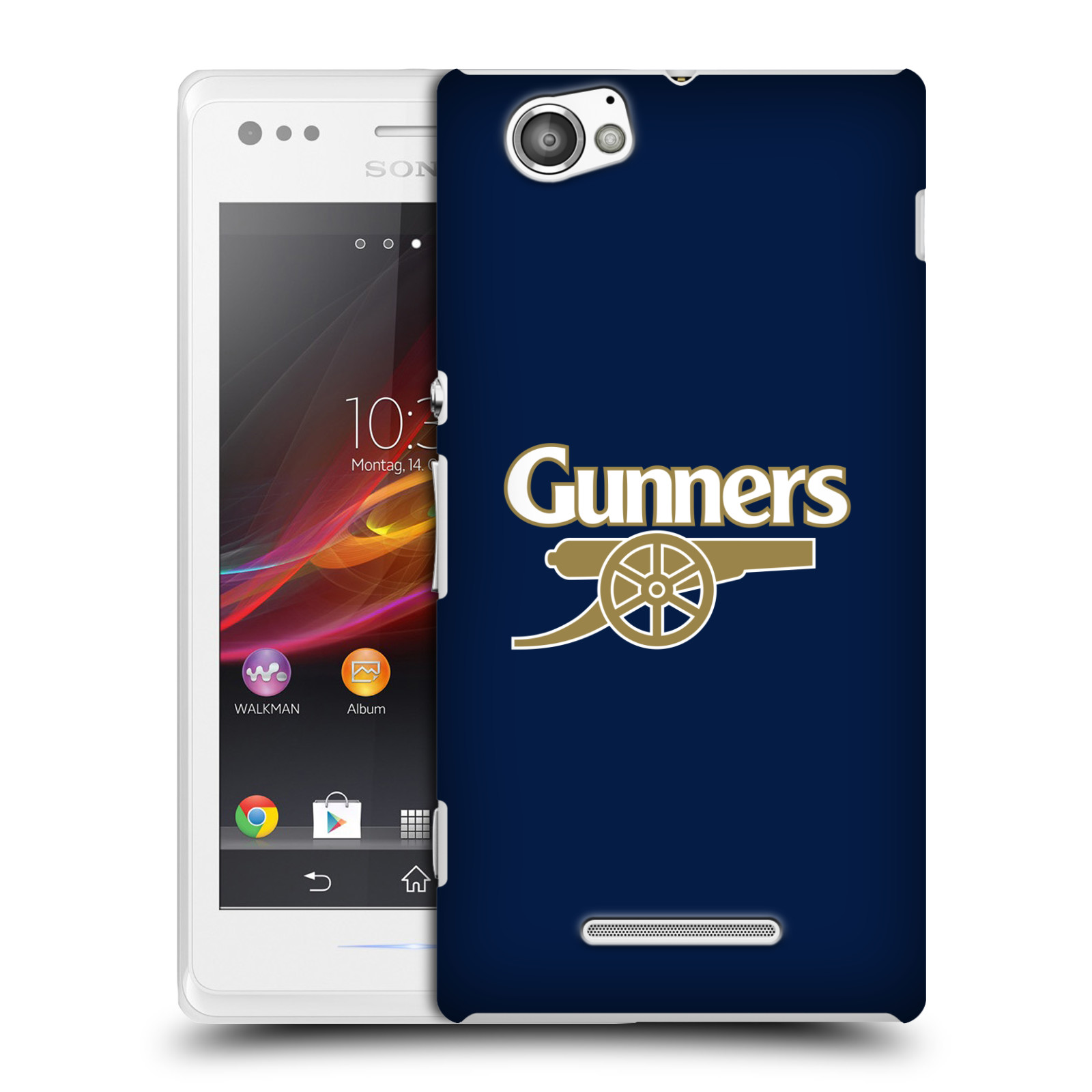Plastové pouzdro na mobil Sony Xperia M C1905 - Head Case - Arsenal FC - Gunners