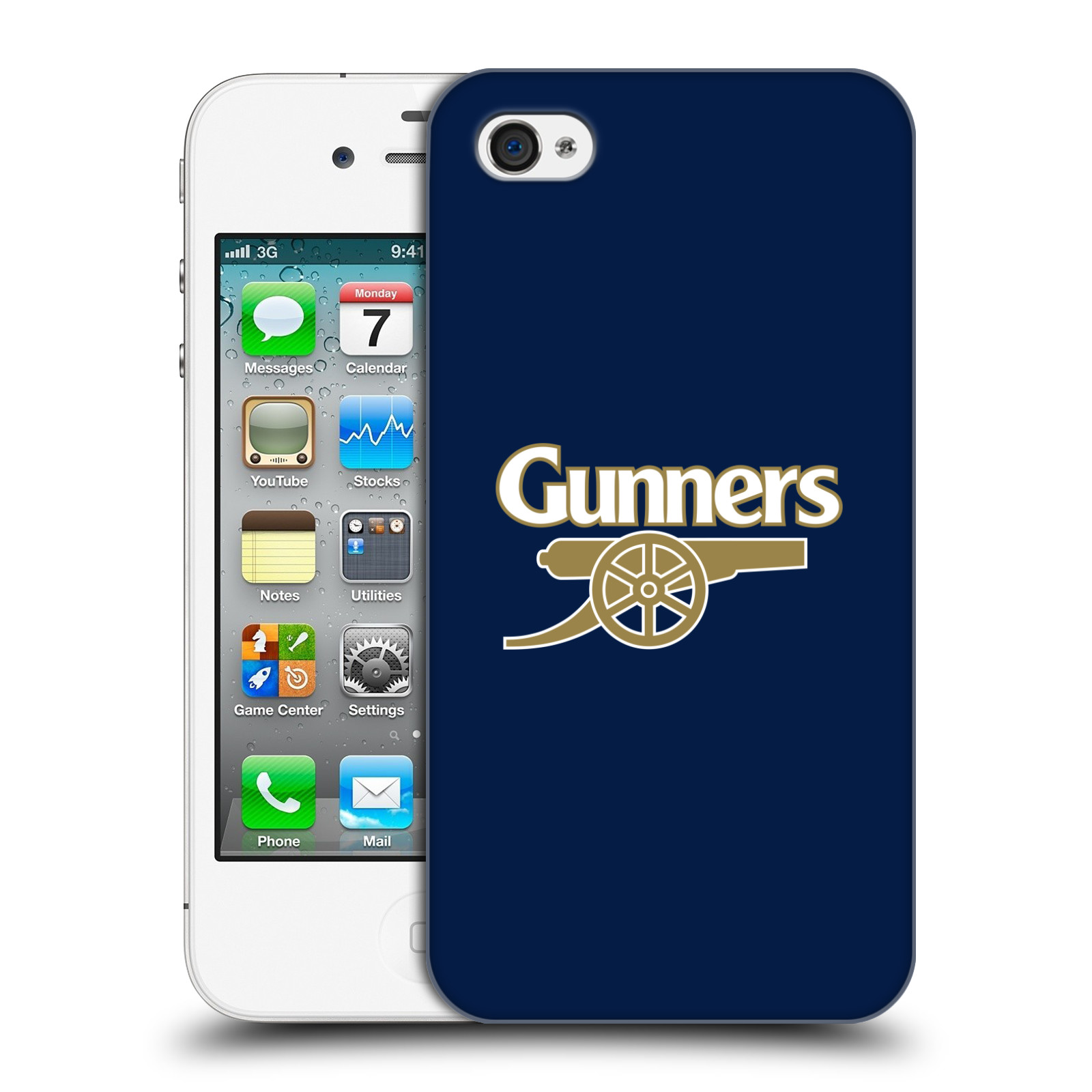 Plastové pouzdro na mobil Apple iPhone 4 a 4S - Head Case - Arsenal FC - Gunners