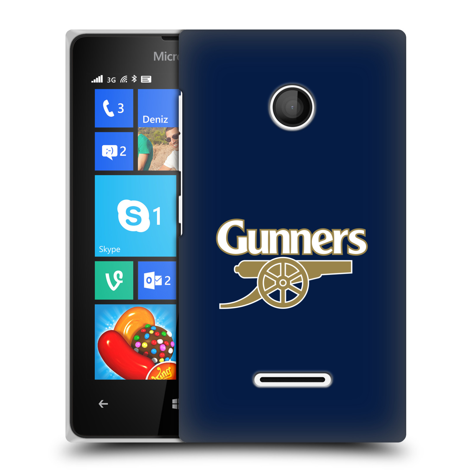 Plastové pouzdro na mobil Microsoft Lumia 435 - Head Case - Arsenal FC - Gunners