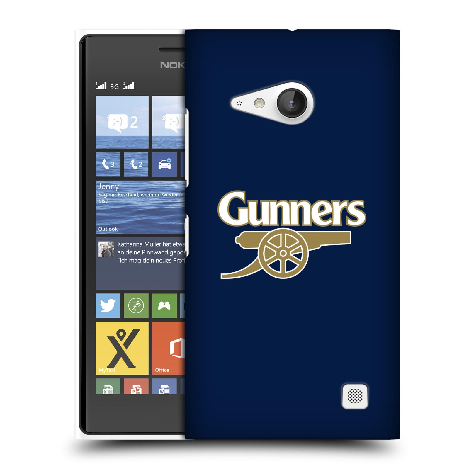Plastové pouzdro na mobil Nokia Lumia 730 Dual SIM - Head Case - Arsenal FC - Gunners (Plastový kryt či obal na mobilní telefon s motivem klubu Arsenal FC - Gunners pro Nokia Lumia 730 Dual SIM)