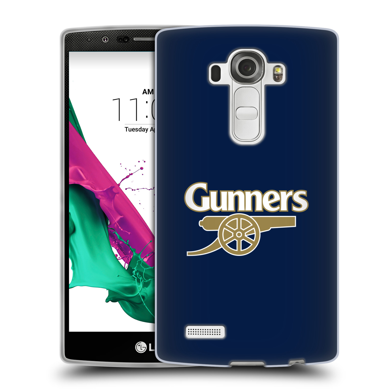Silikonové pouzdro na mobil LG G4 - Head Case - Arsenal FC - Gunners