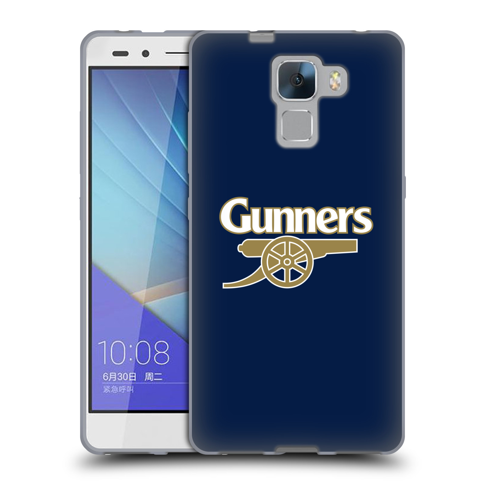 Silikonové pouzdro na mobil Honor 7 - Head Case - Arsenal FC - Gunners