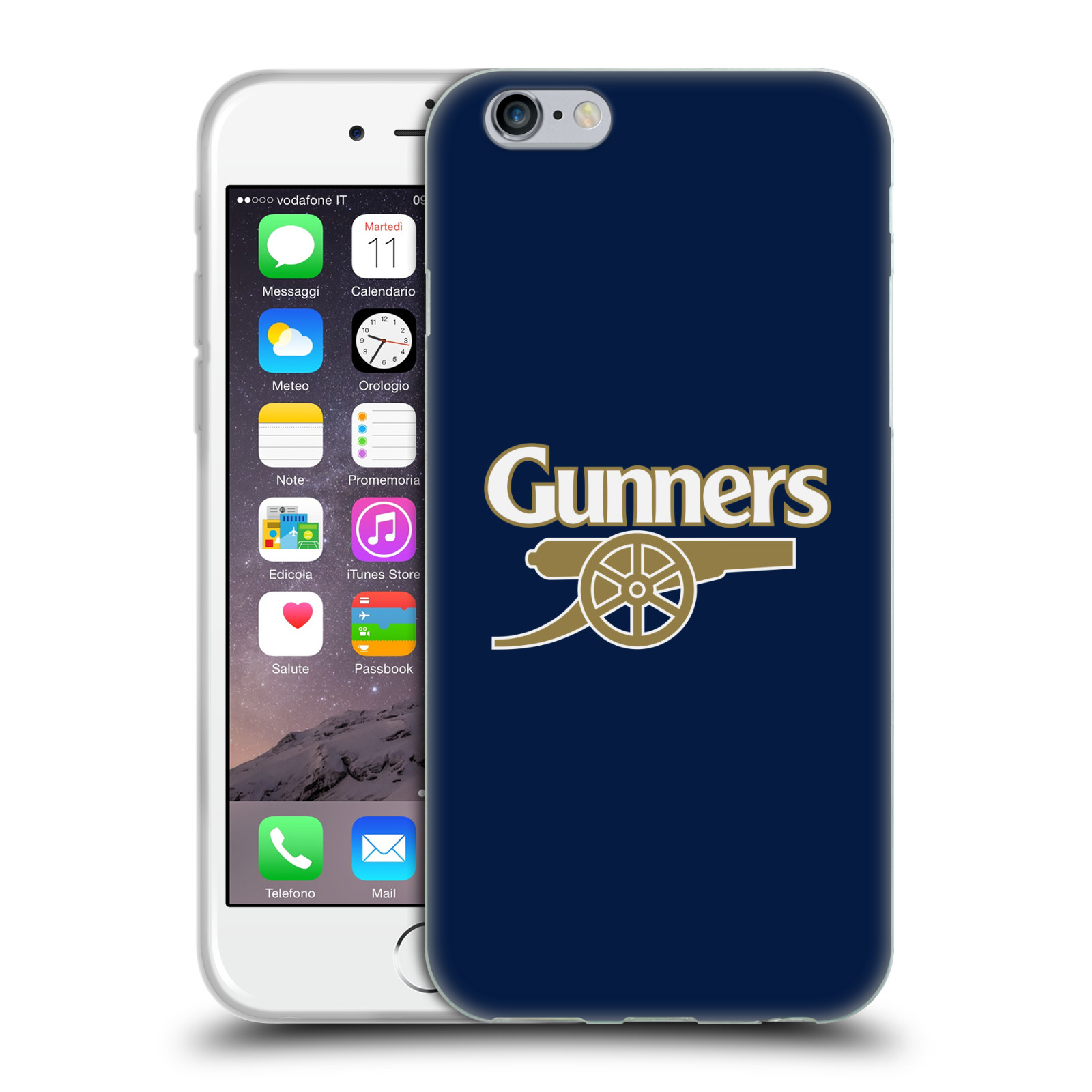 Silikonové pouzdro na mobil Apple iPhone 6 - Head Case - Arsenal FC - Gunners