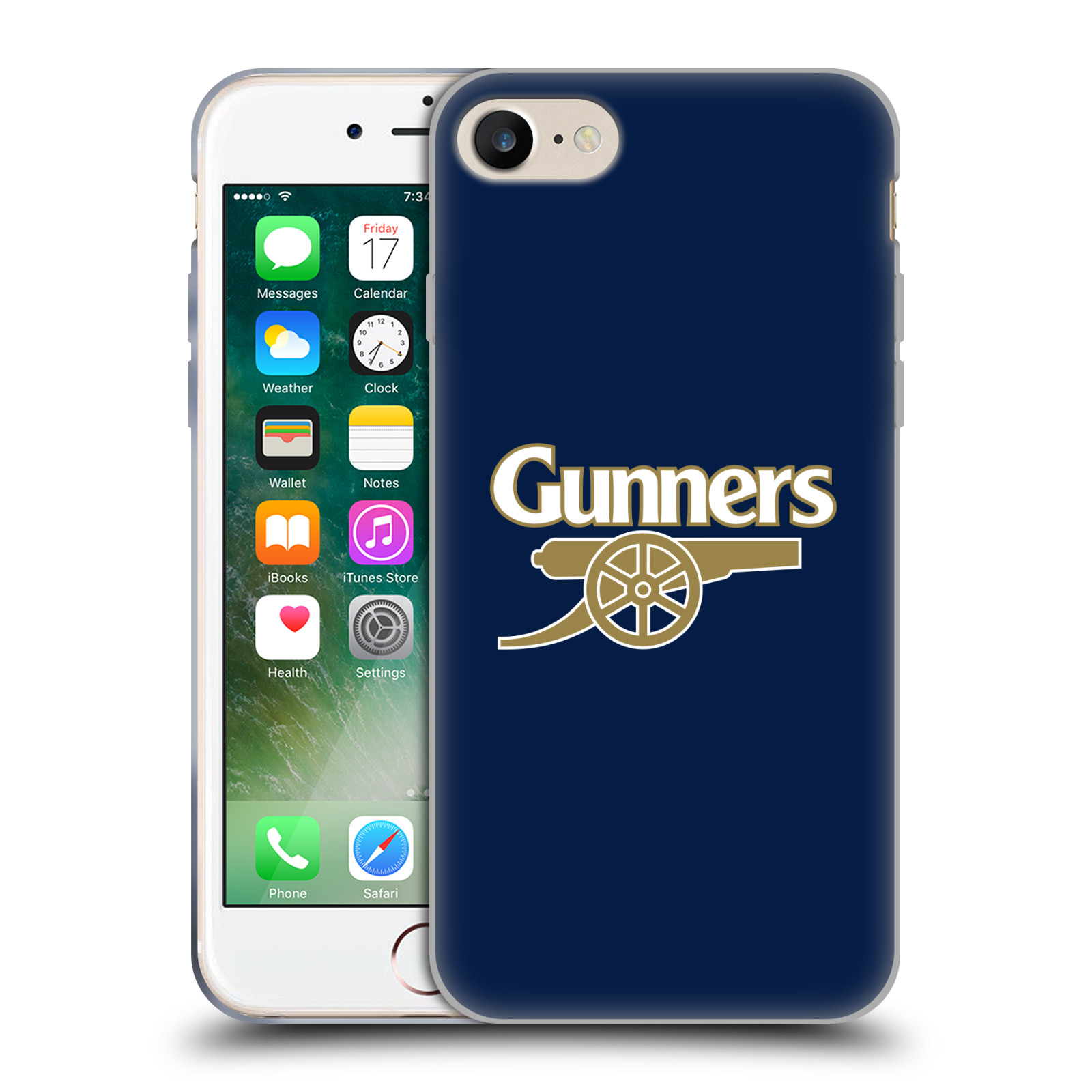 Silikonové pouzdro na mobil Apple iPhone 8 - Head Case - Arsenal FC - Gunners