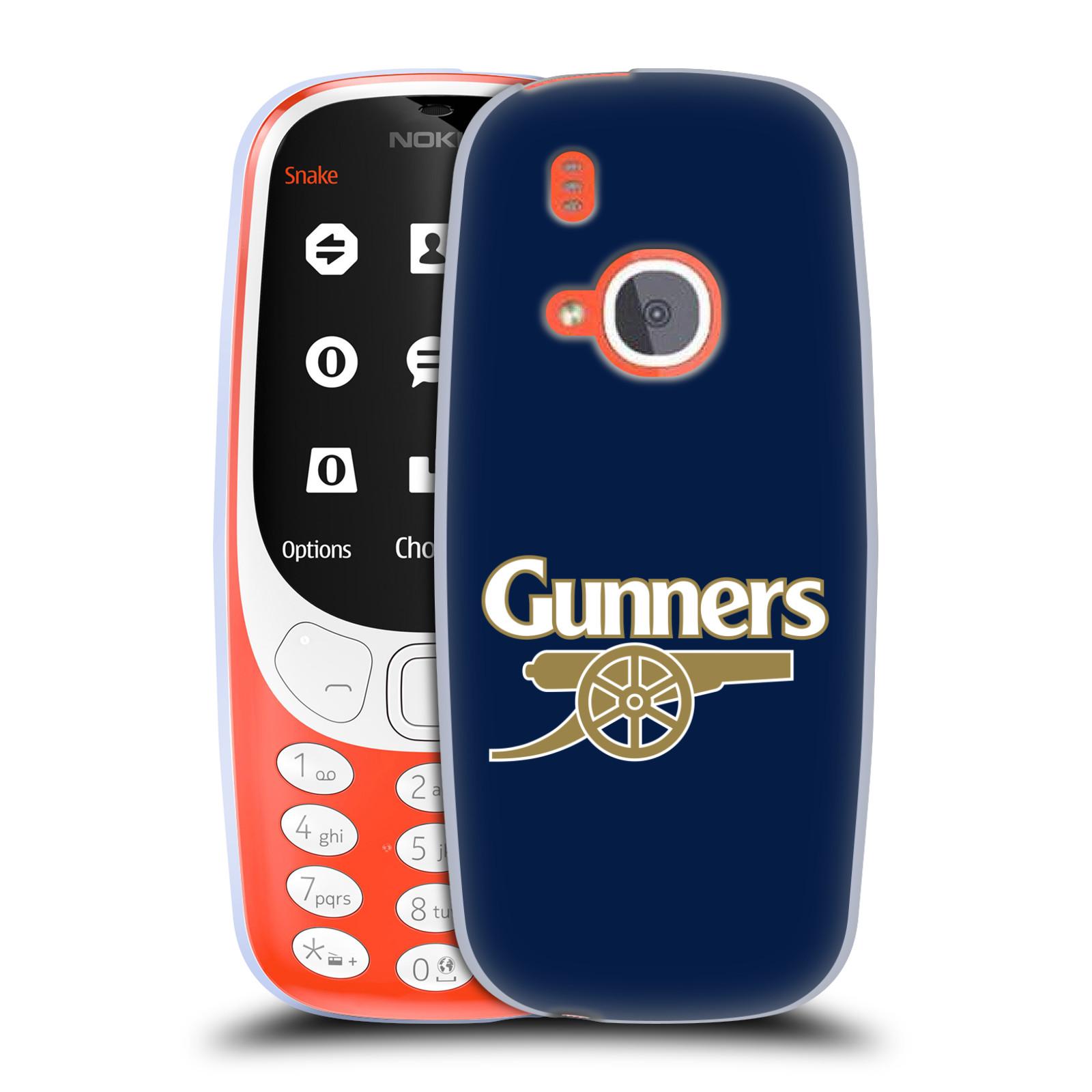 Silikonové pouzdro na mobil Nokia 3310 - Head Case - Arsenal FC - Gunners