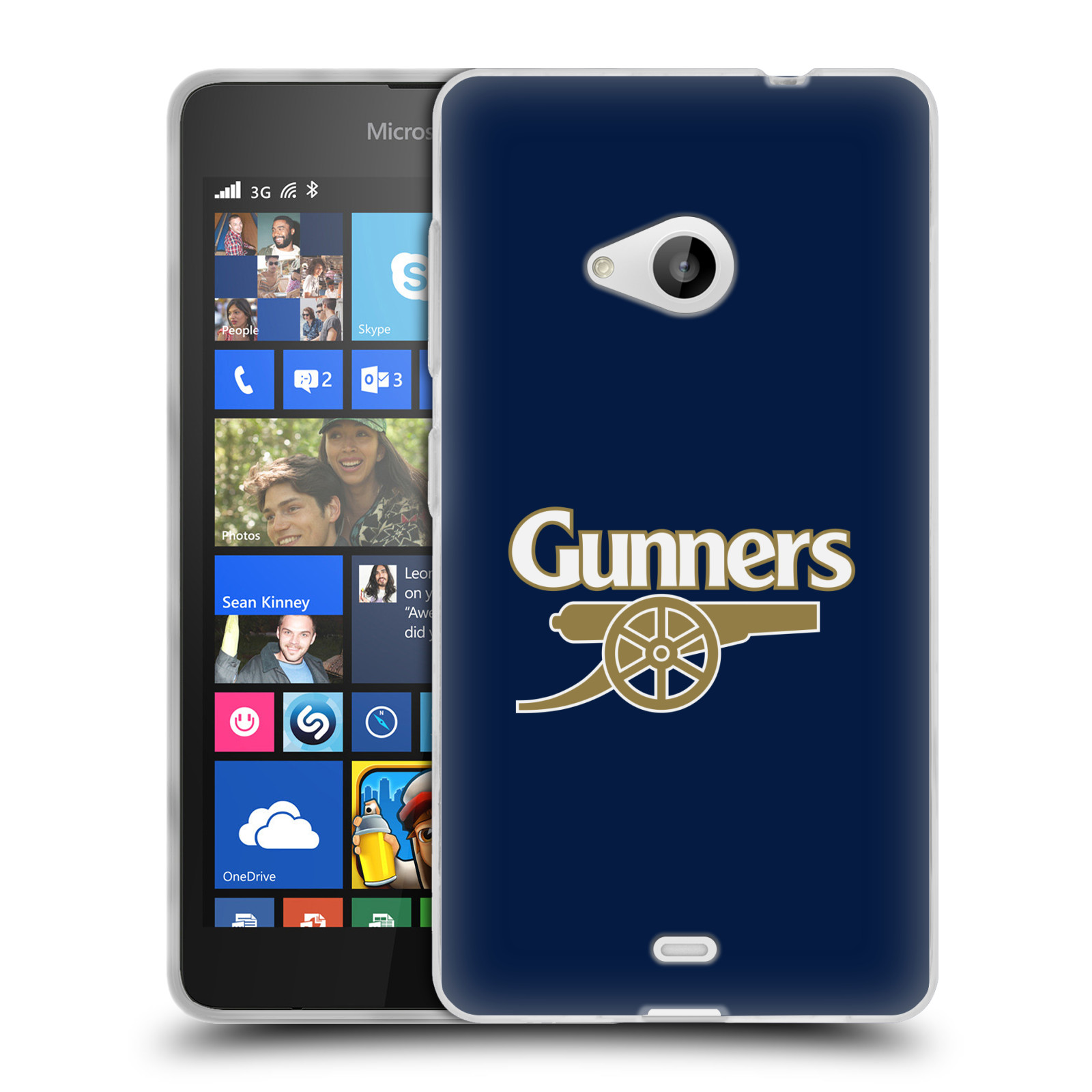 Silikonové pouzdro na mobil Microsoft Lumia 535 - Head Case - Arsenal FC - Gunners