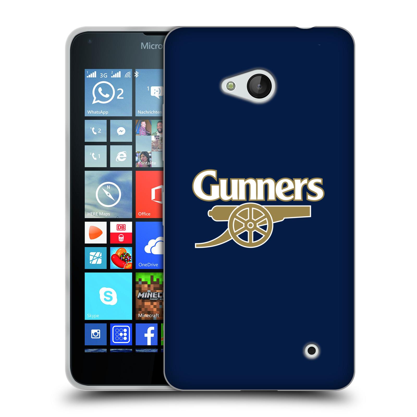 Silikonové pouzdro na mobil Microsoft Lumia 640 - Head Case - Arsenal FC - Gunners