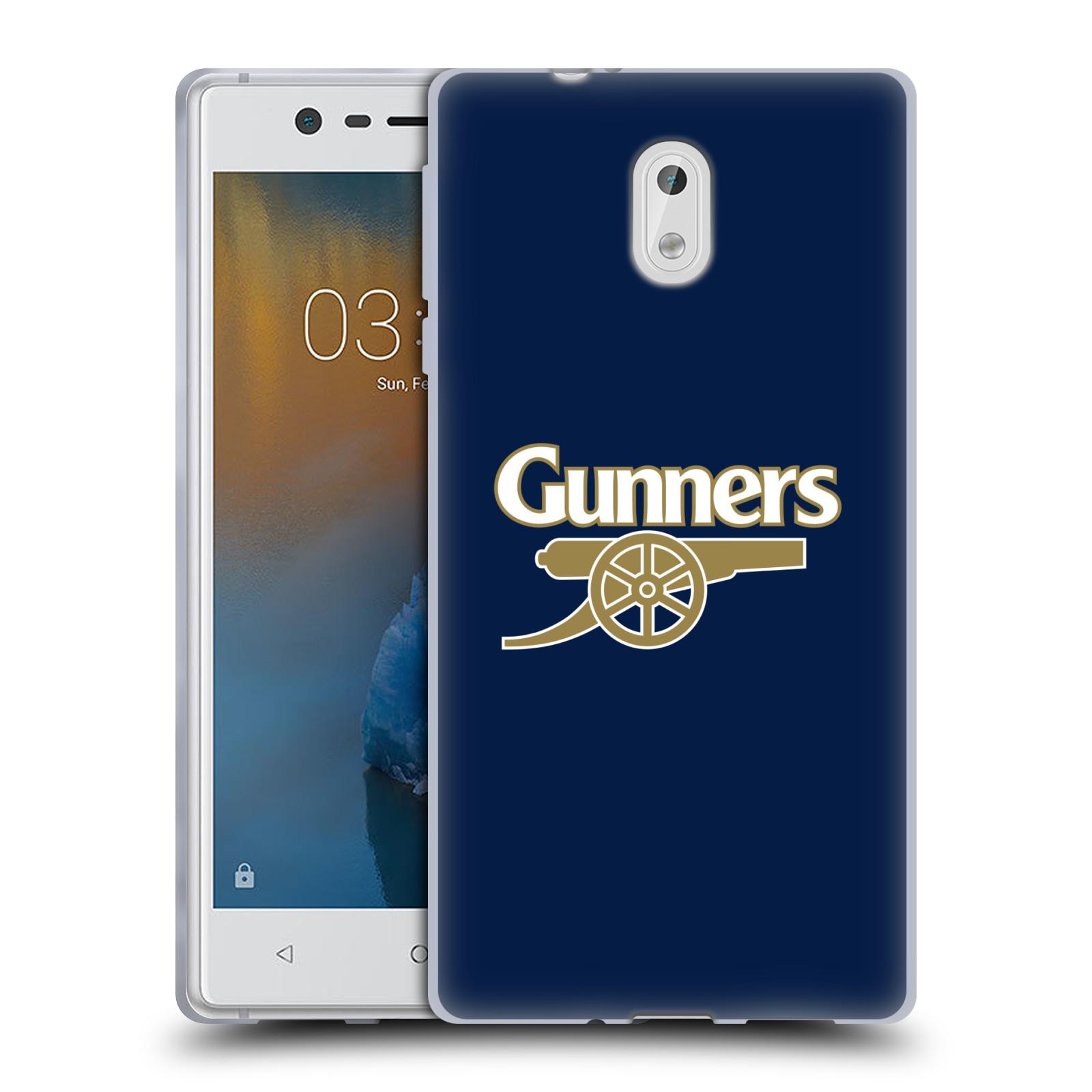 Silikonové pouzdro na mobil Nokia 3 Head Case - Arsenal FC - Gunners