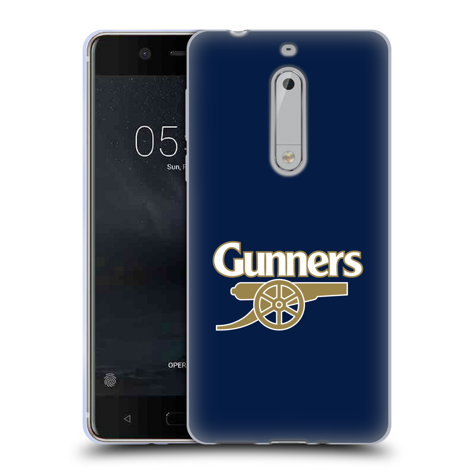 Silikonové pouzdro na mobil Nokia 5 Head Case - Arsenal FC - Gunners