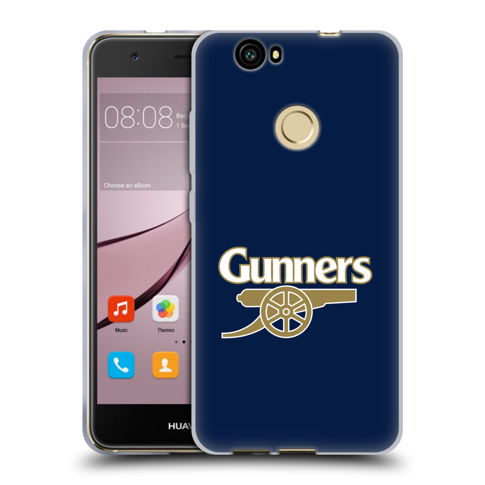 Silikonové pouzdro na mobil Huawei Nova - Head Case - Arsenal FC - Gunners