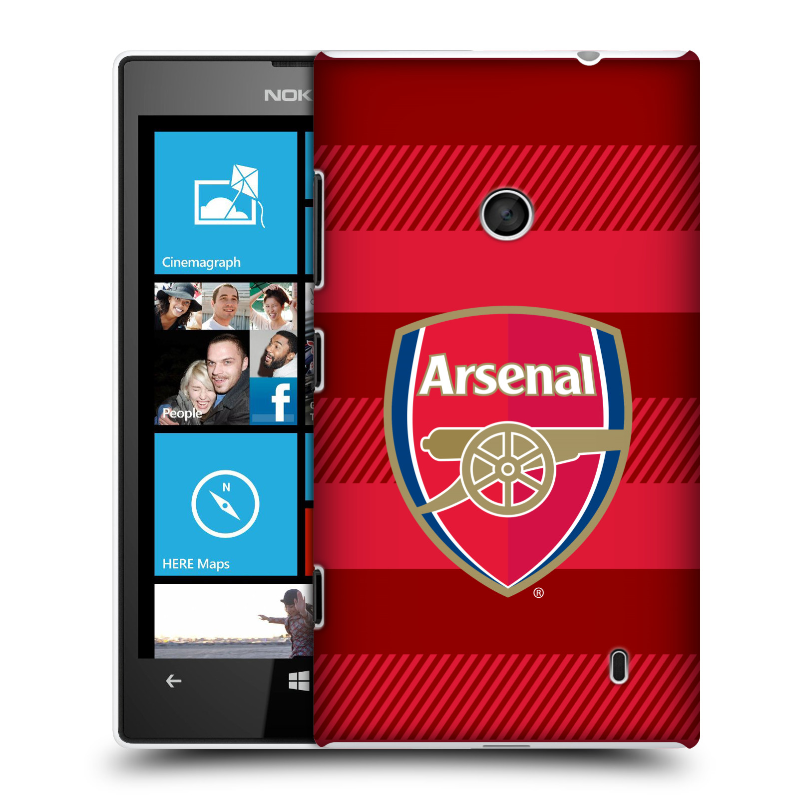 Plastové pouzdro na mobil Nokia Lumia 520 - Head Case - Arsenal FC - Logo s pruhy