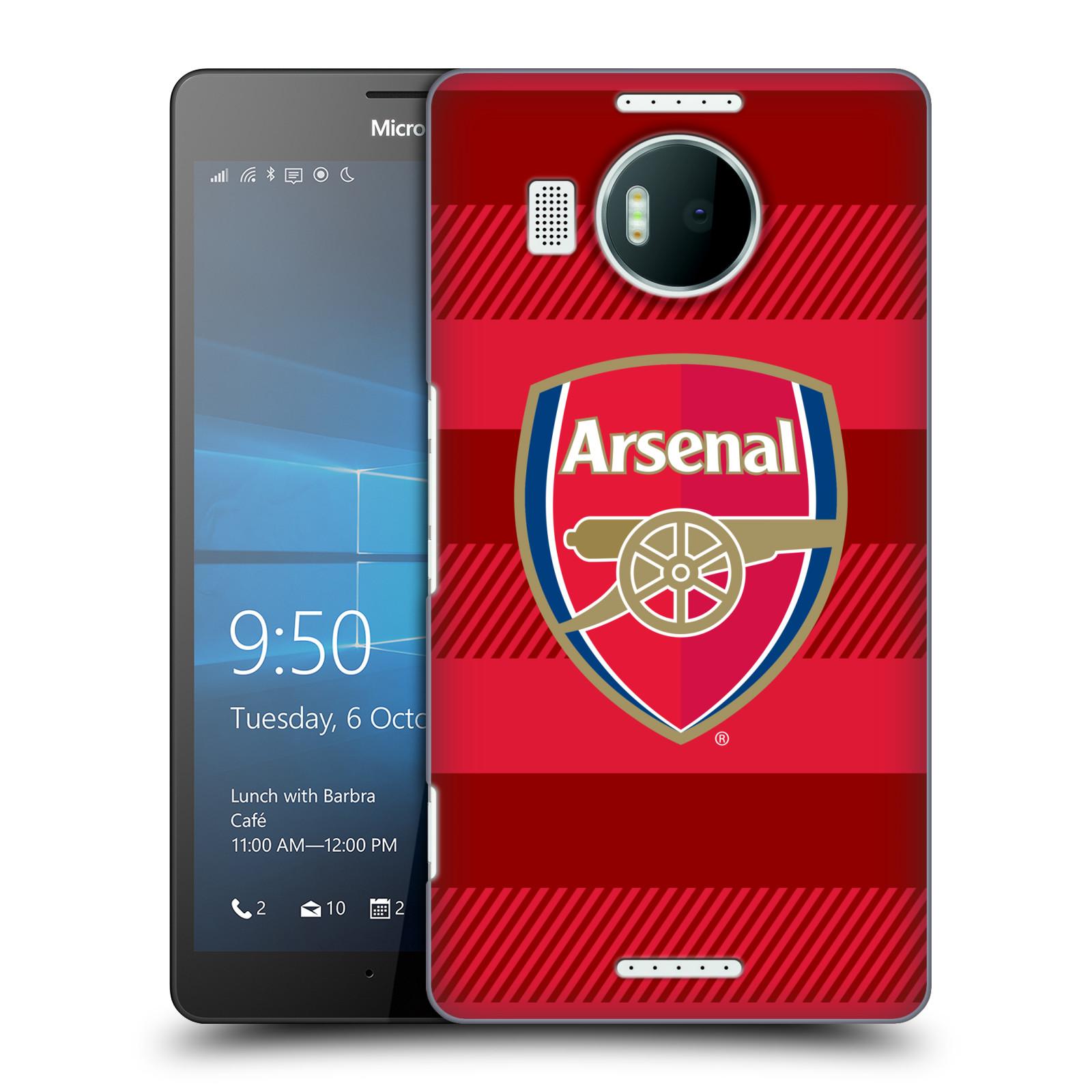 Plastové pouzdro na mobil Microsoft Lumia 950 XL - Head Case - Arsenal FC - Logo s pruhy