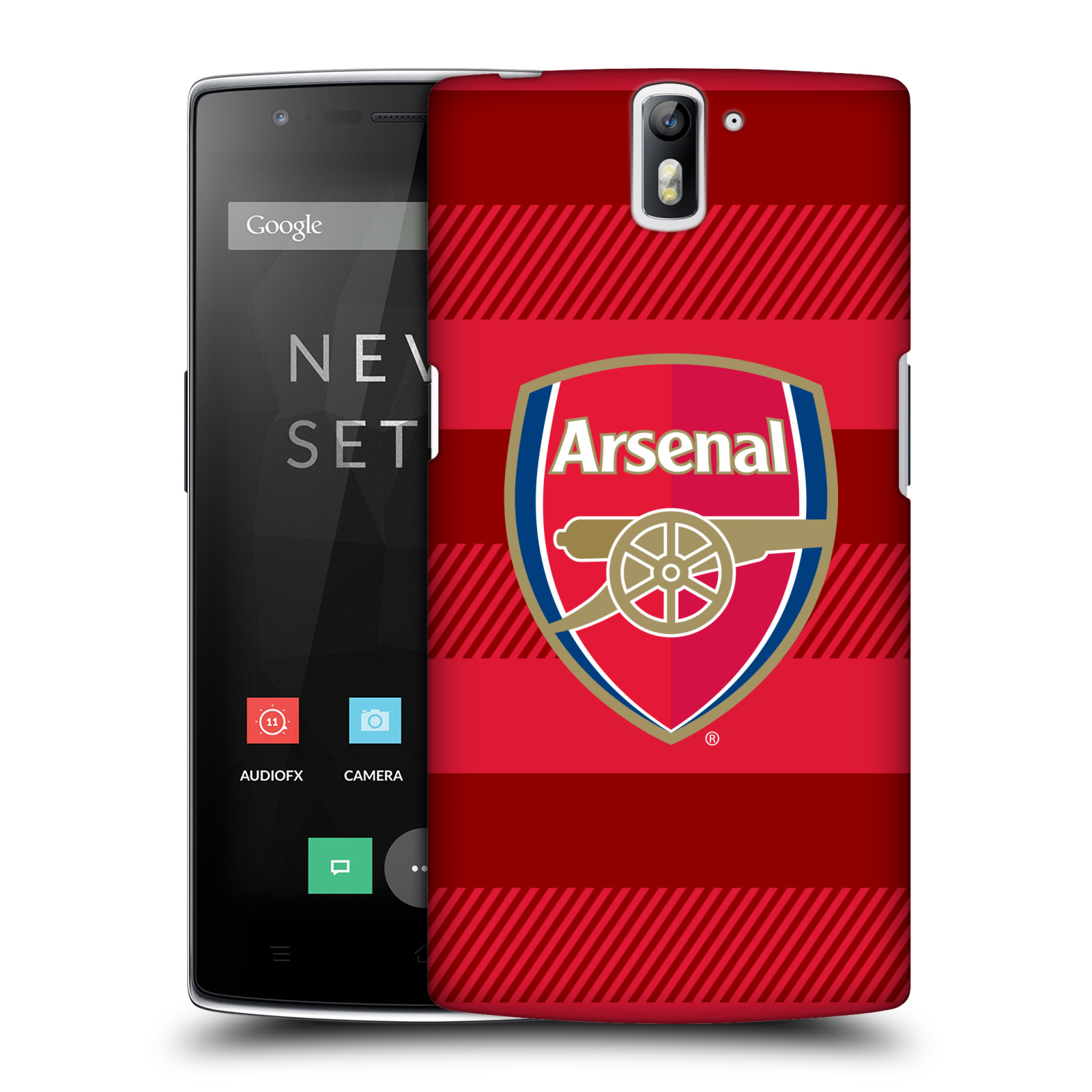 Plastové pouzdro na mobil OnePlus One - Head Case - Arsenal FC - Logo s pruhy