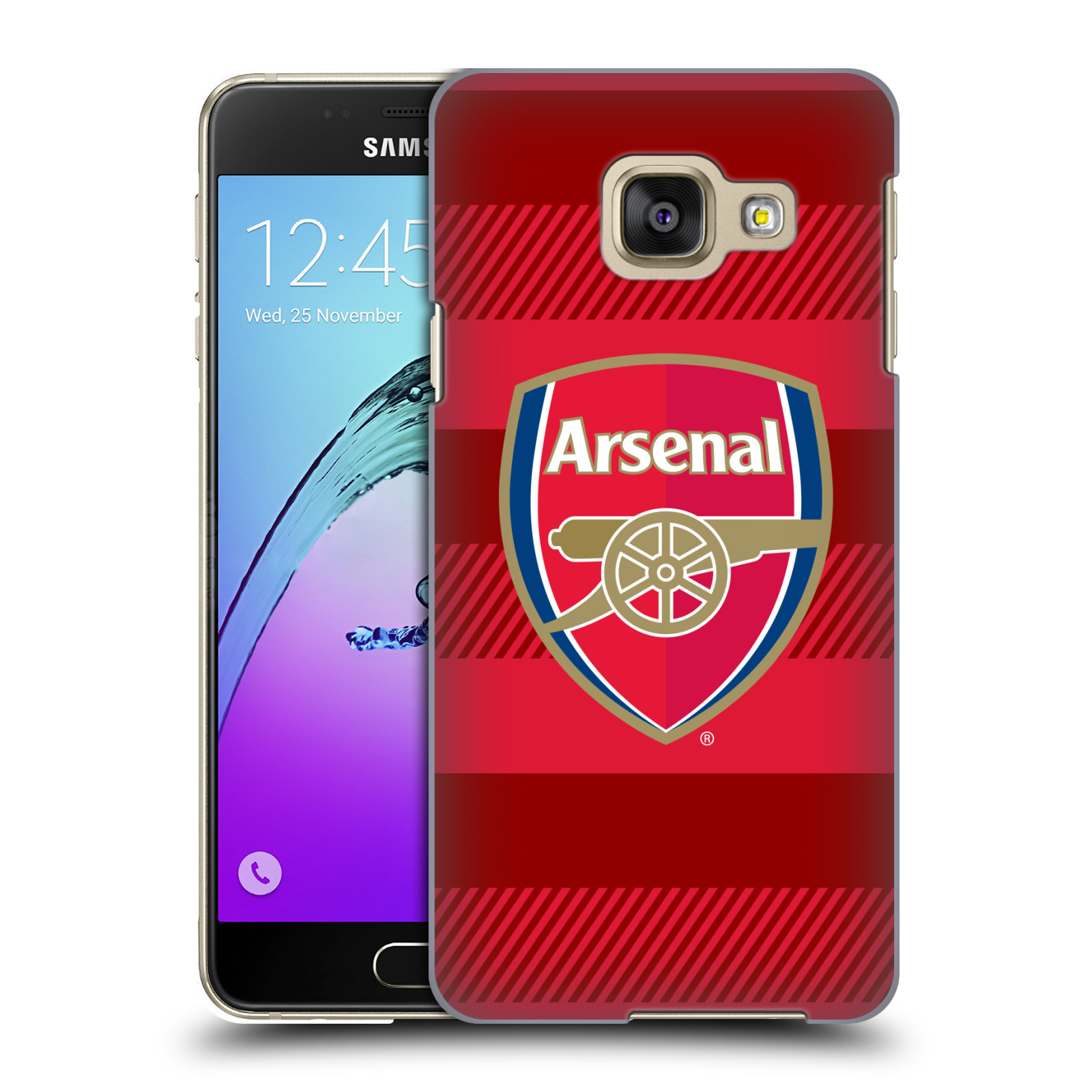 Plastové pouzdro na mobil Samsung Galaxy A3 (2016) - Head Case - Arsenal FC - Logo s pruhy