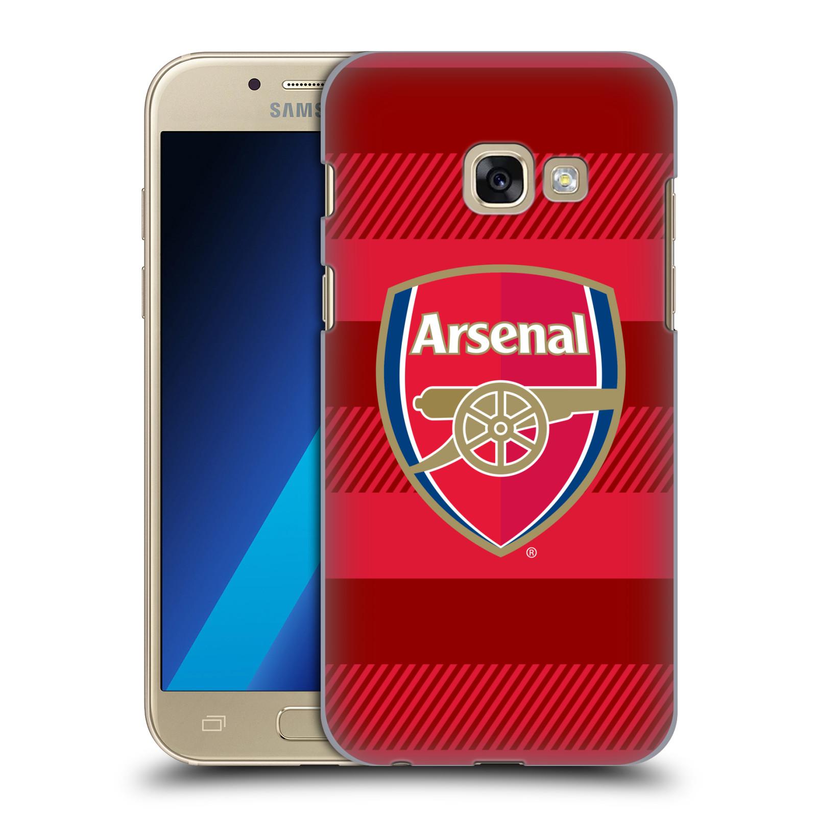 Plastové pouzdro na mobil Samsung Galaxy A3 (2017) - Head Case - Arsenal FC - Logo s pruhy