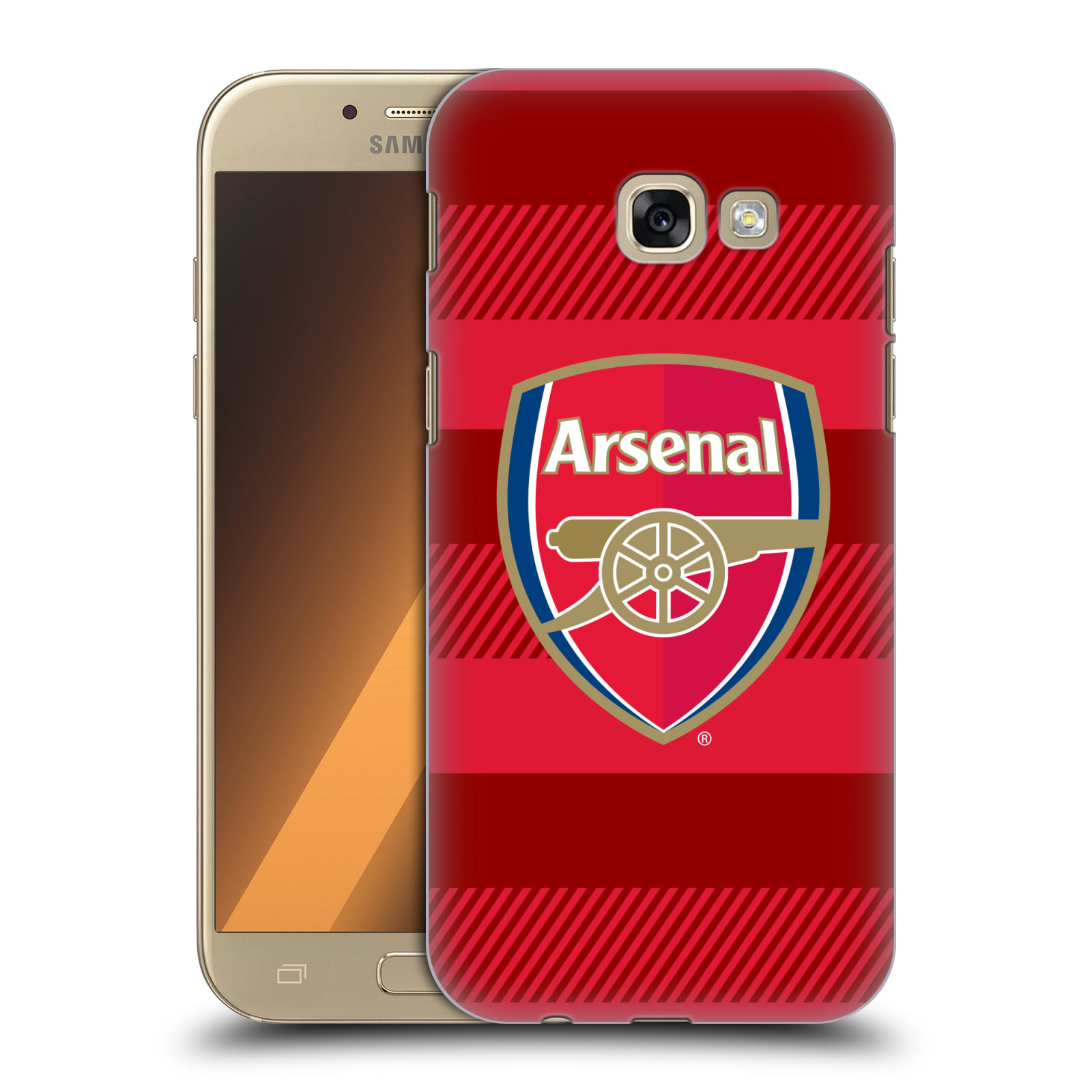Plastové pouzdro na mobil Samsung Galaxy A5 (2017) - Head Case - Arsenal FC - Logo s pruhy