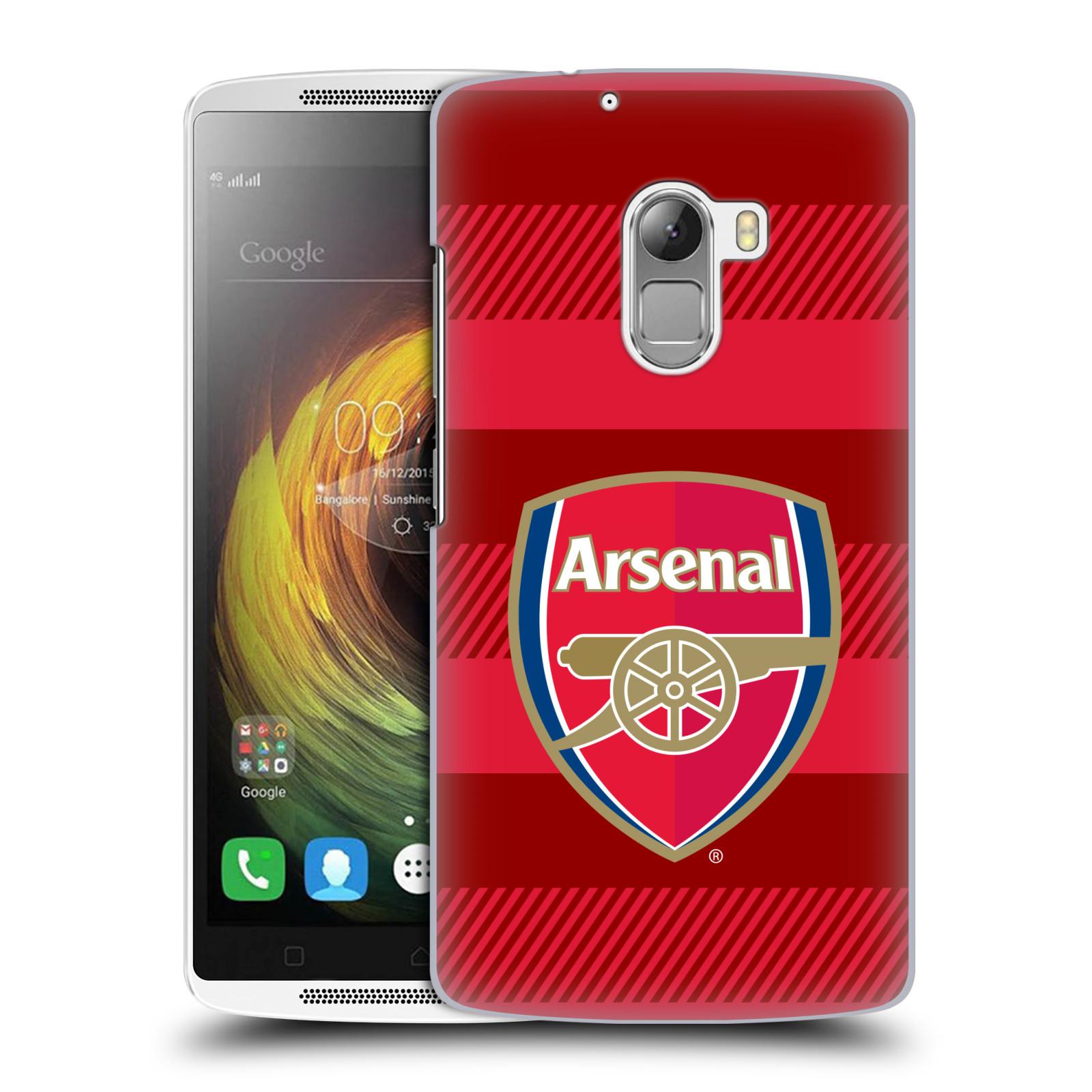 Plastové pouzdro na mobil Lenovo A7010 - Head Case - Arsenal FC - Logo s pruhy