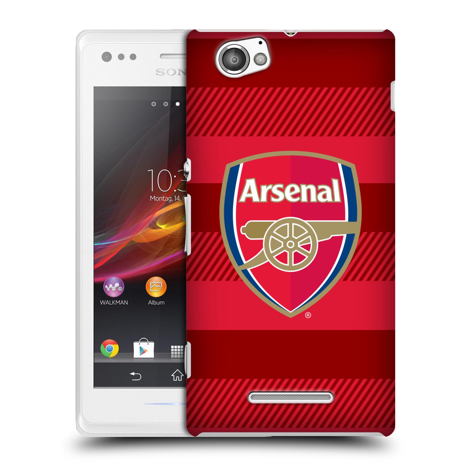 Plastové pouzdro na mobil Sony Xperia M C1905 - Head Case - Arsenal FC - Logo s pruhy