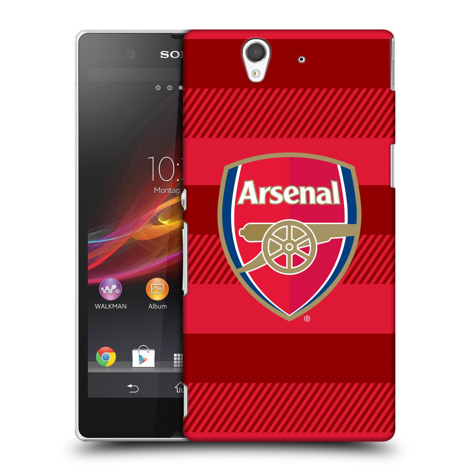 Plastové pouzdro na mobil Sony Xperia Z C6603 - Head Case - Arsenal FC - Logo s pruhy