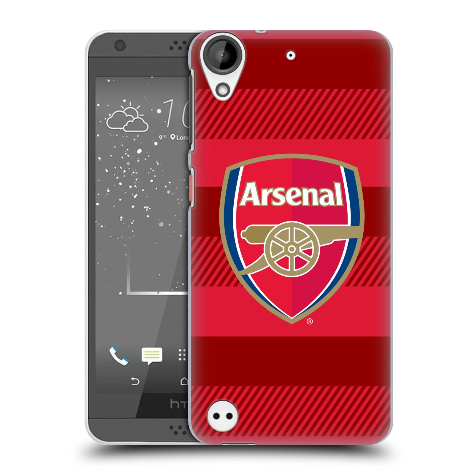 Plastové pouzdro na mobil HTC Desire 530 - Head Case - Arsenal FC - Logo s pruhy