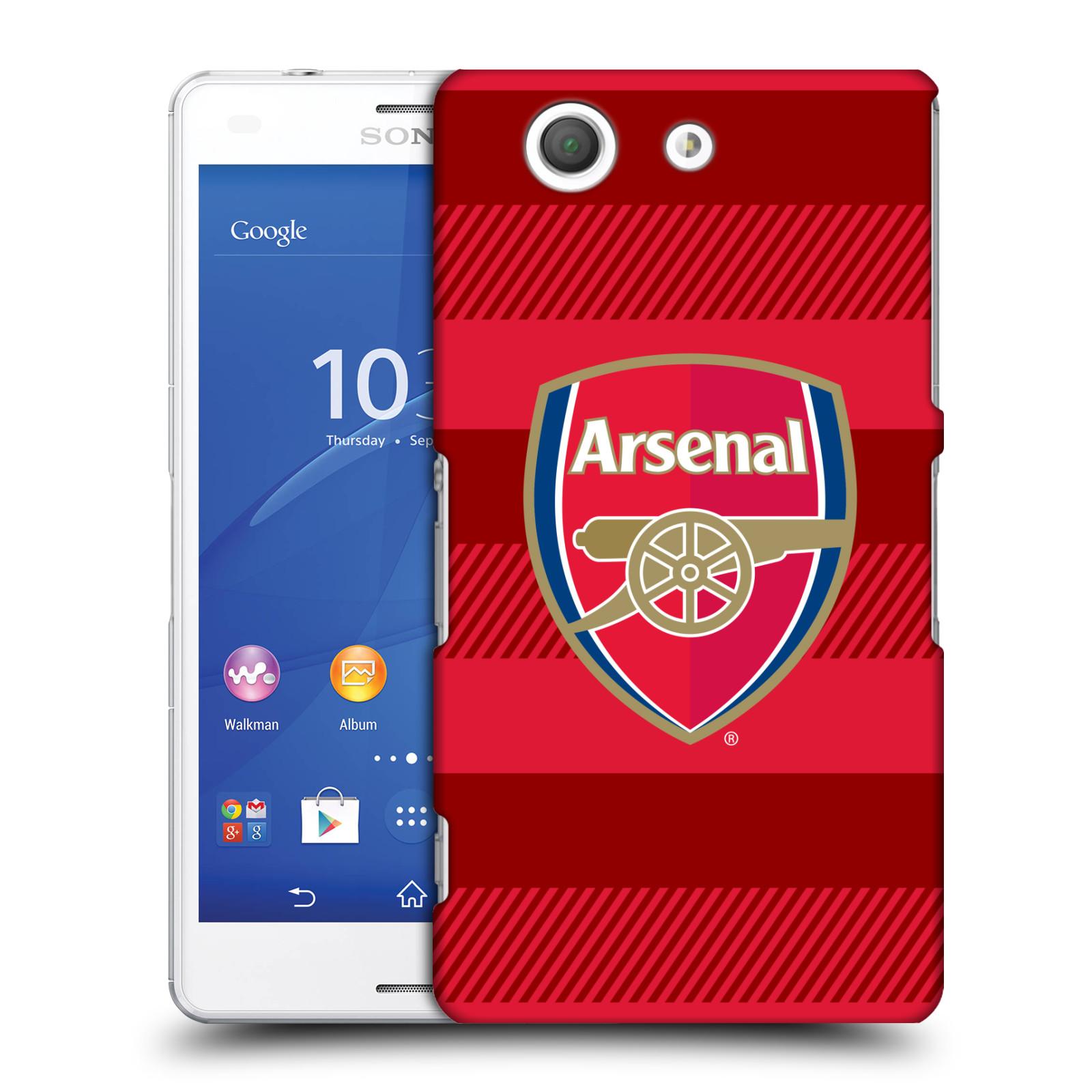 Plastové pouzdro na mobil Sony Xperia Z3 Compact D5803 - Head Case - Arsenal FC - Logo s pruhy