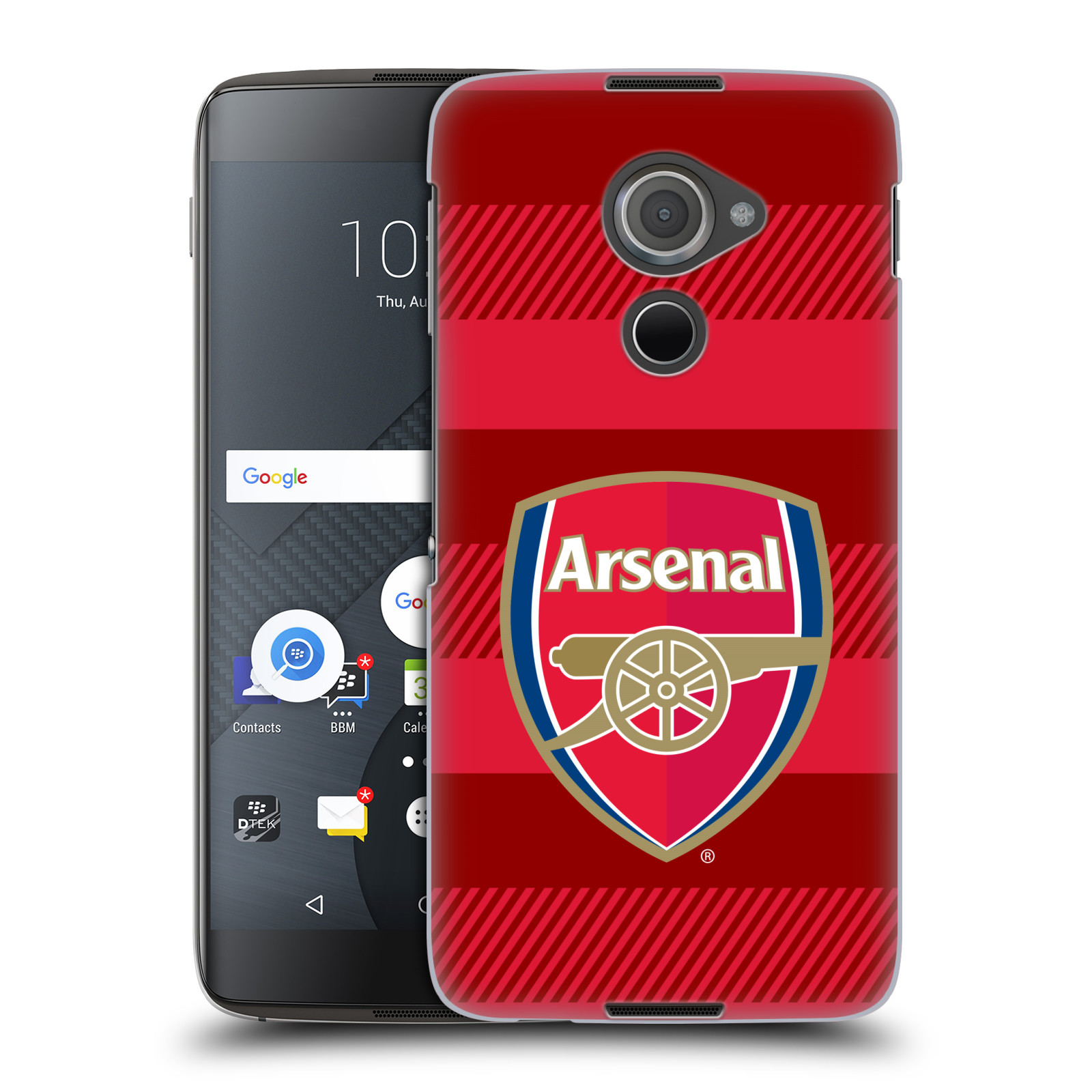 Plastové pouzdro na mobil Blackberry DTEK60 (Argon) - Head Case - Arsenal FC - Logo s pruhy