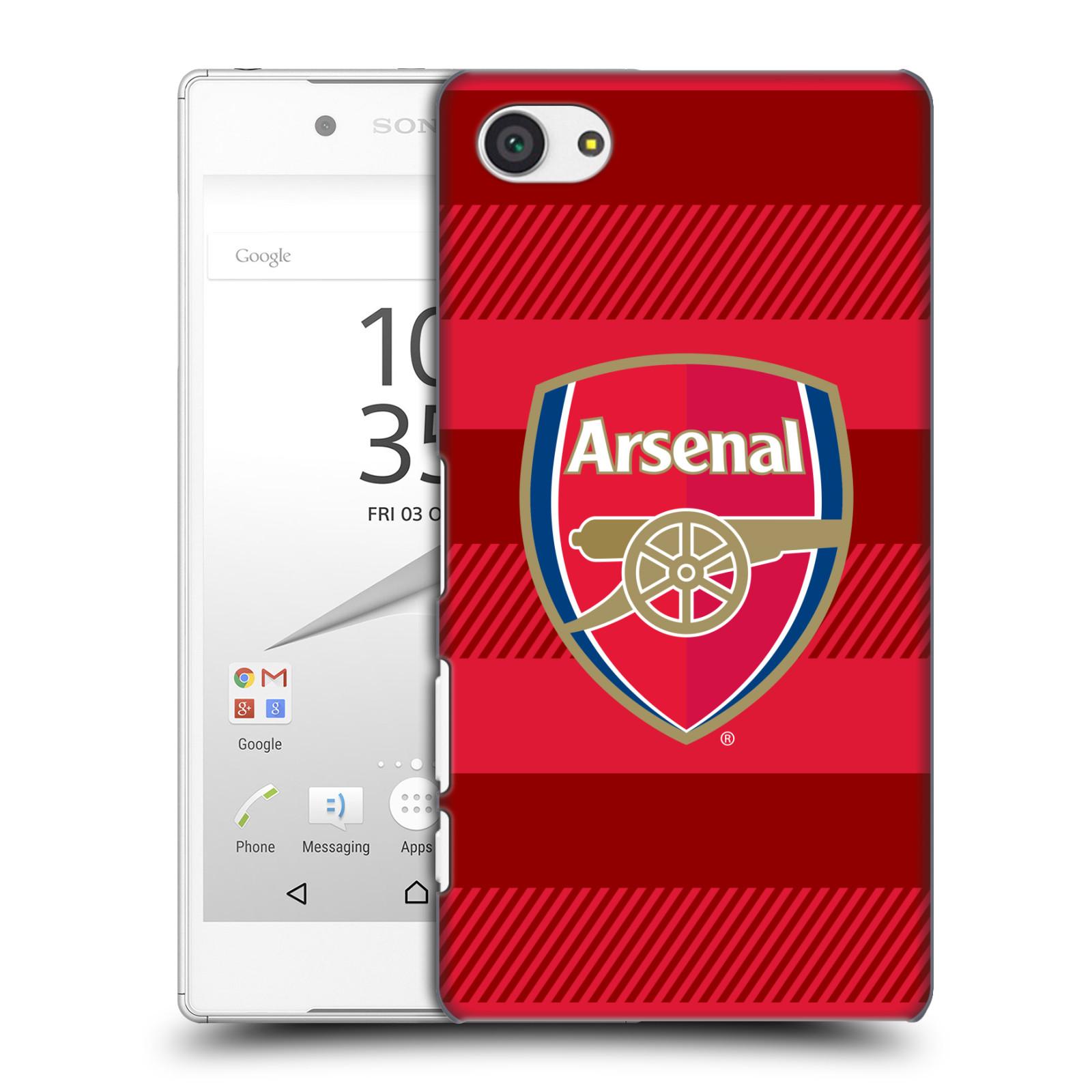 Plastové pouzdro na mobil Sony Xperia Z5 Compact - Head Case - Arsenal FC - Logo s pruhy