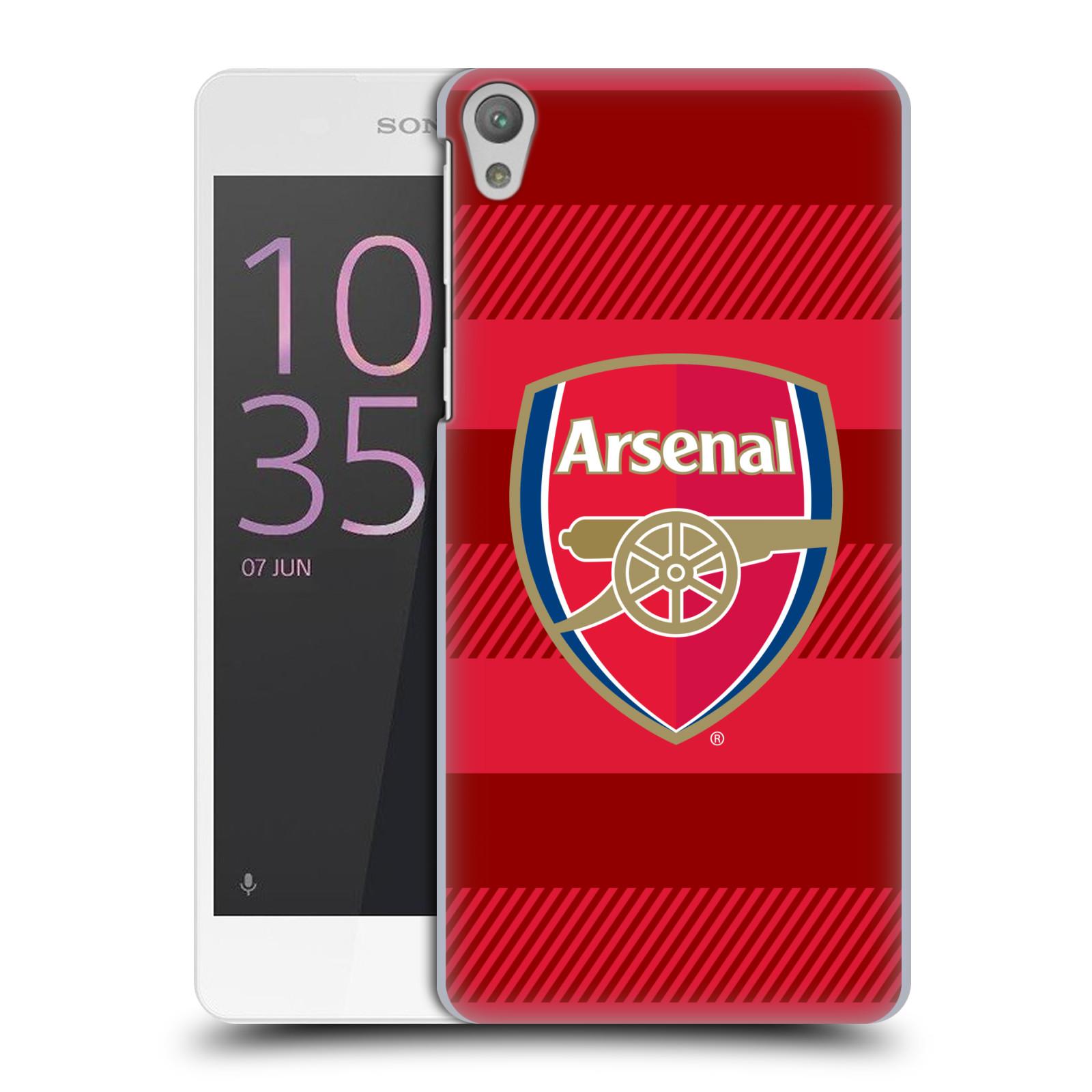 Plastové pouzdro na mobil Sony Xperia E5 - Head Case - Arsenal FC - Logo s pruhy