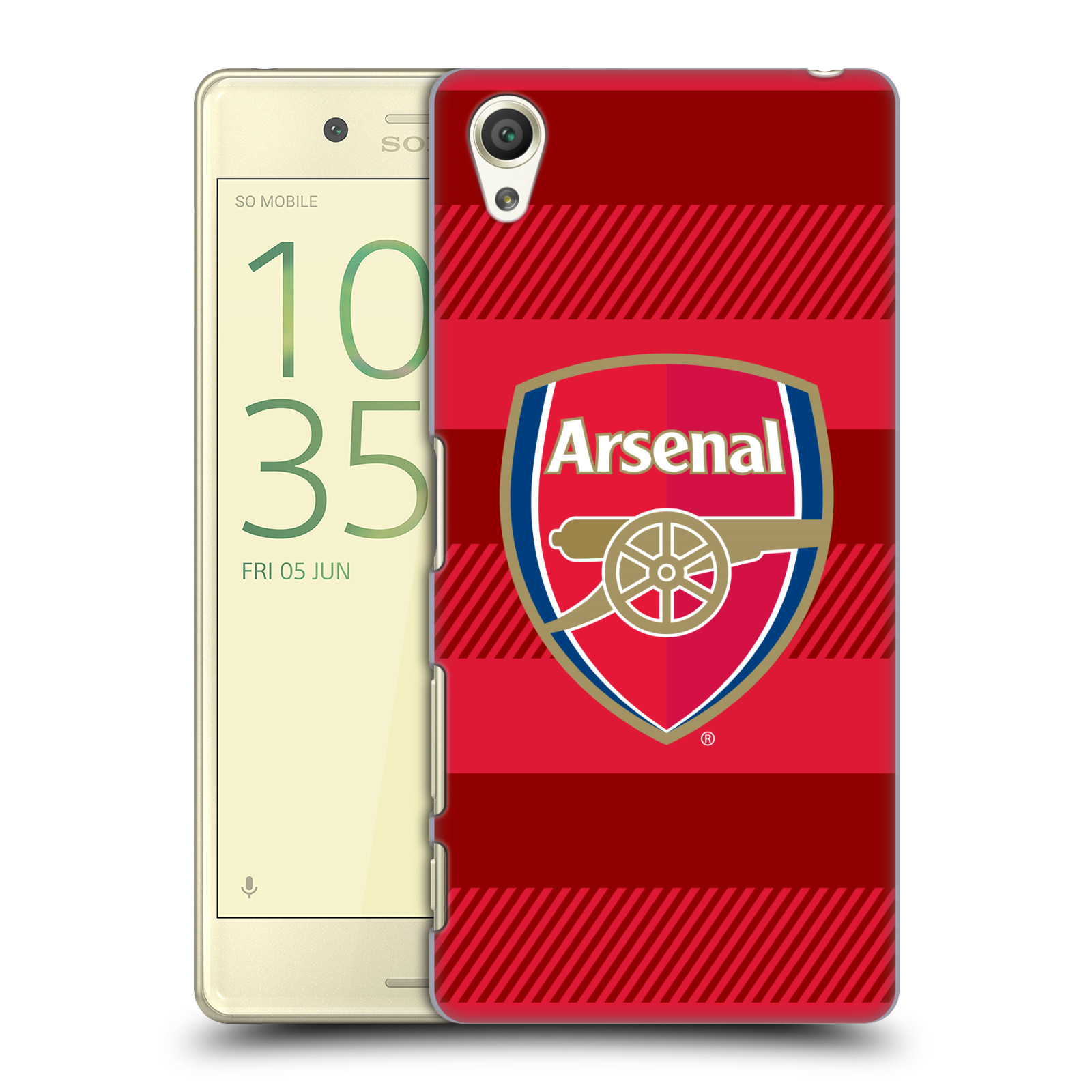 Plastové pouzdro na mobil Sony Xperia X - Head Case - Arsenal FC - Logo s pruhy