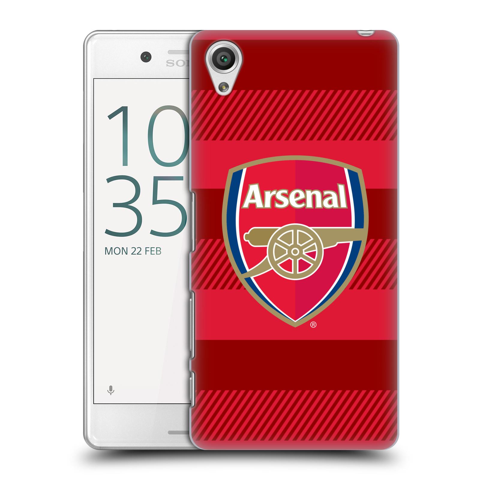 Plastové pouzdro na mobil Sony Xperia X Performance - Head Case - Arsenal FC - Logo s pruhy