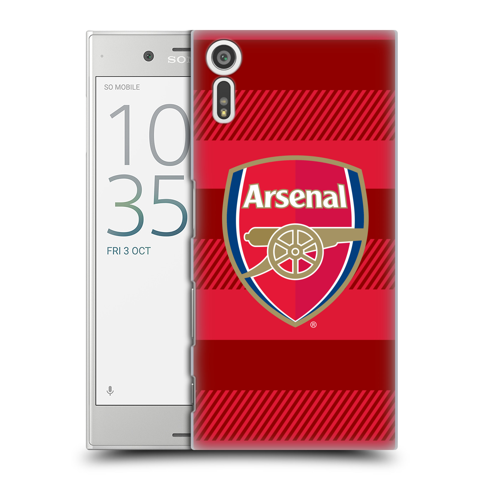 Plastové pouzdro na mobil Sony Xperia XZ - Head Case - Arsenal FC - Logo s pruhy