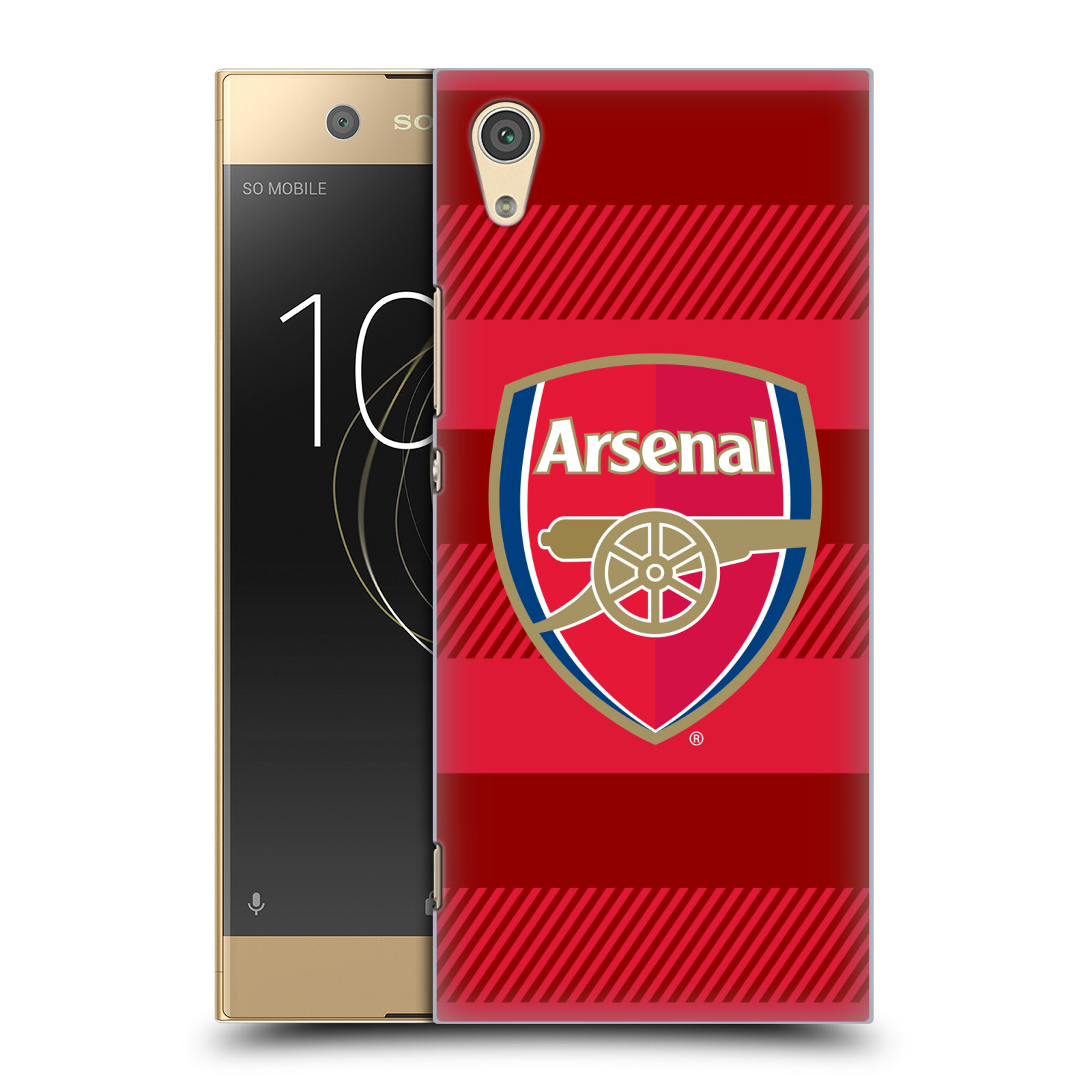 Plastové pouzdro na mobil Sony Xperia XA1 - Head Case - Arsenal FC - Logo s pruhy