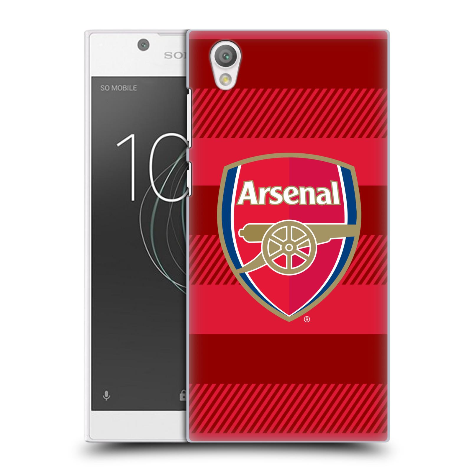 Plastové pouzdro na mobil Sony Xperia L1 - Head Case - Arsenal FC - Logo s pruhy