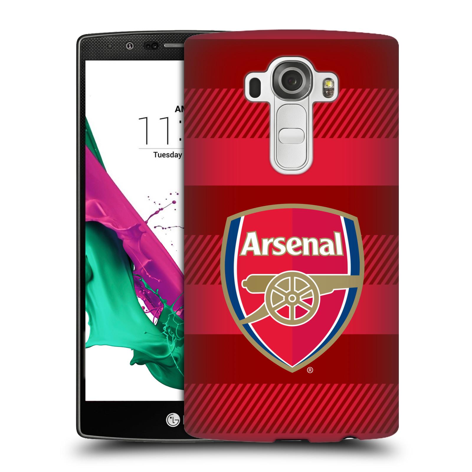 Plastové pouzdro na mobil LG G4 - Head Case - Arsenal FC - Logo s pruhy
