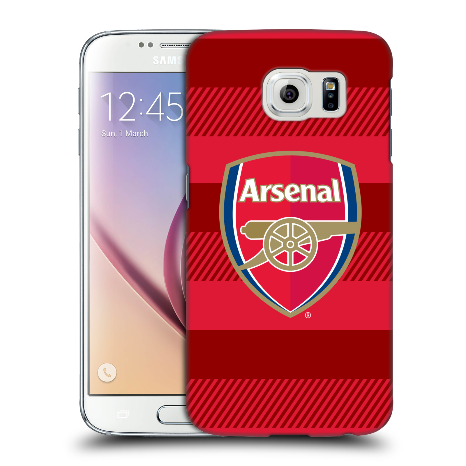 Plastové pouzdro na mobil Samsung Galaxy S6 - Head Case - Arsenal FC - Logo s pruhy