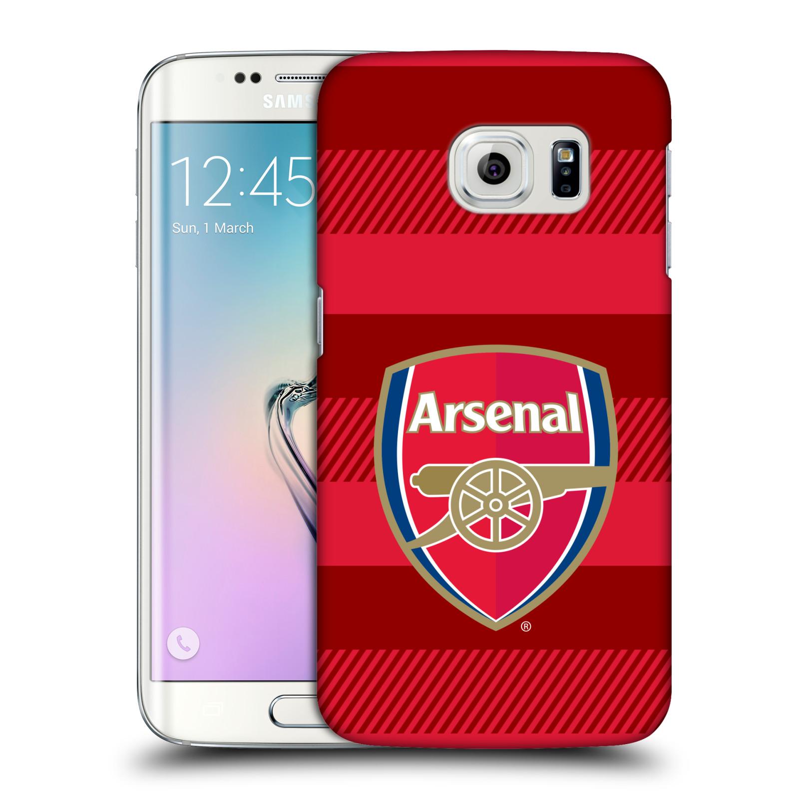 Plastové pouzdro na mobil Samsung Galaxy S6 Edge - Head Case - Arsenal FC - Logo s pruhy