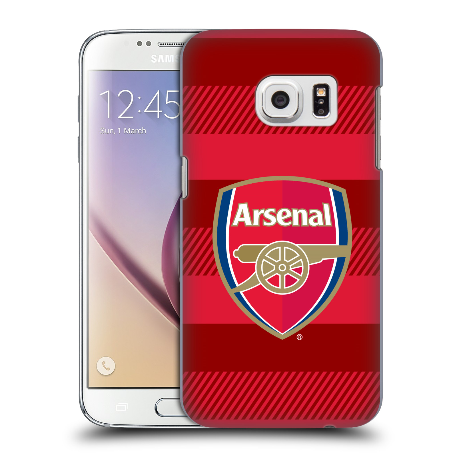 Plastové pouzdro na mobil Samsung Galaxy S7 - Head Case - Arsenal FC - Logo s pruhy