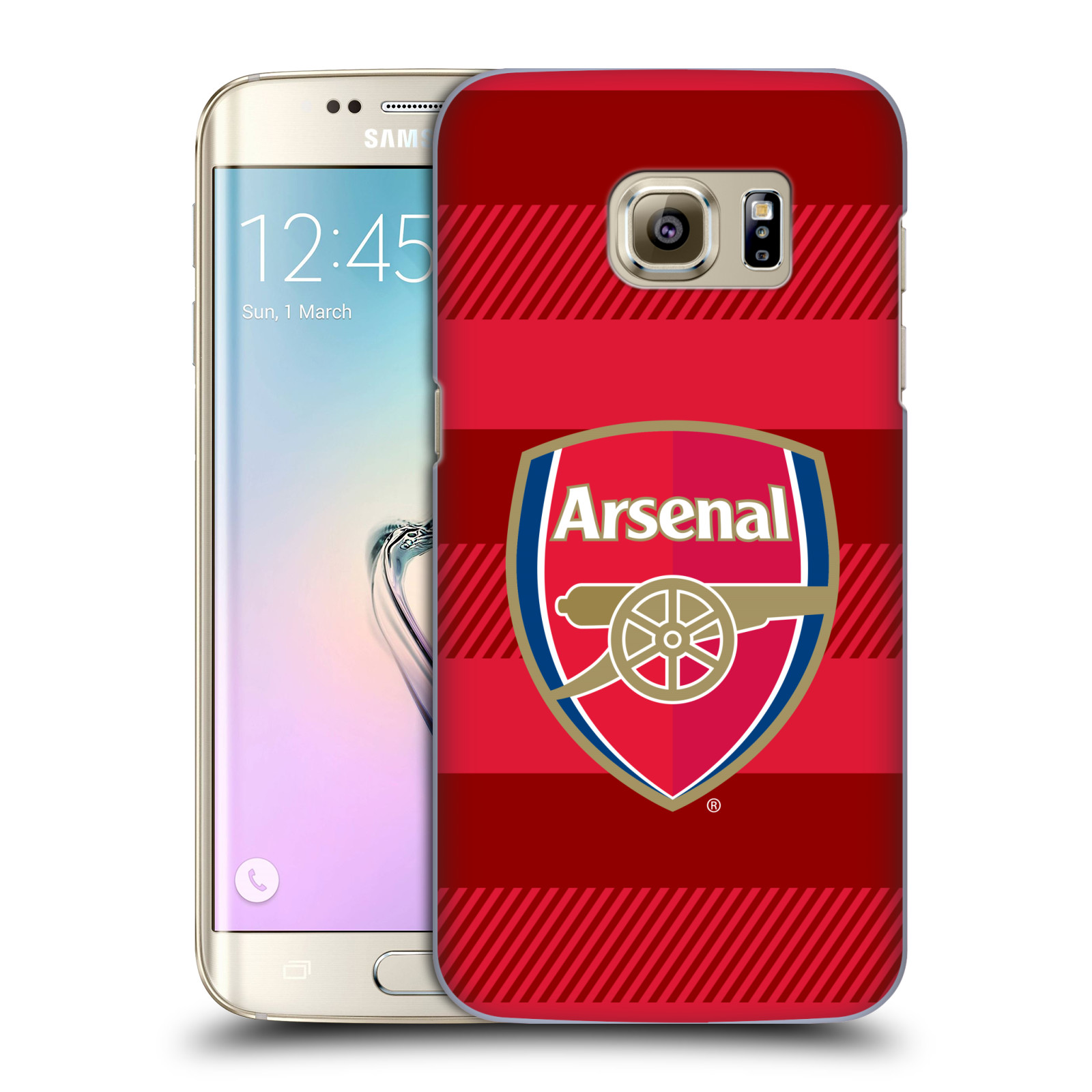 Plastové pouzdro na mobil Samsung Galaxy S7 Edge - Head Case - Arsenal FC - Logo s pruhy