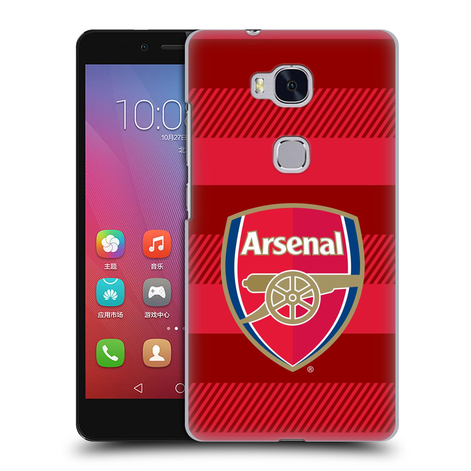 Plastové pouzdro na mobil Honor 5X - Head Case - Arsenal FC - Logo s pruhy