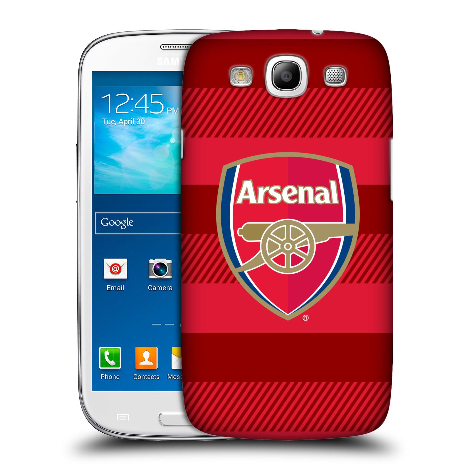 Plastové pouzdro na mobil Samsung Galaxy S III - Head Case - Arsenal FC - Logo s pruhy