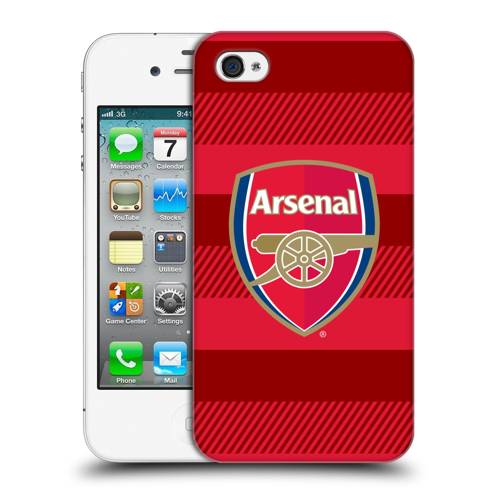 Plastové pouzdro na mobil Apple iPhone 4 a 4S - Head Case - Arsenal FC - Logo s pruhy
