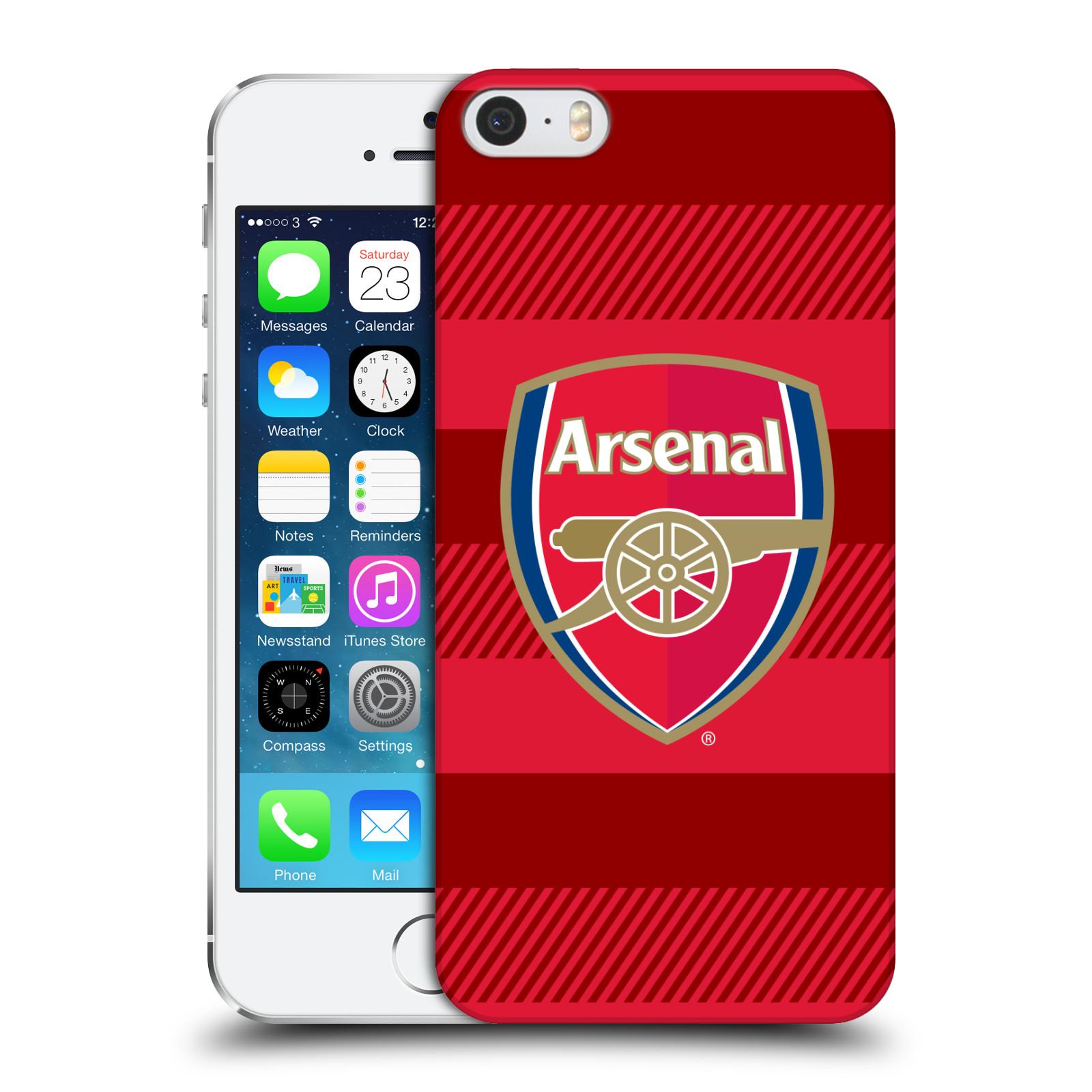 Plastové pouzdro na mobil Apple iPhone SE, 5 a 5S - Head Case - Arsenal FC - Logo s pruhy