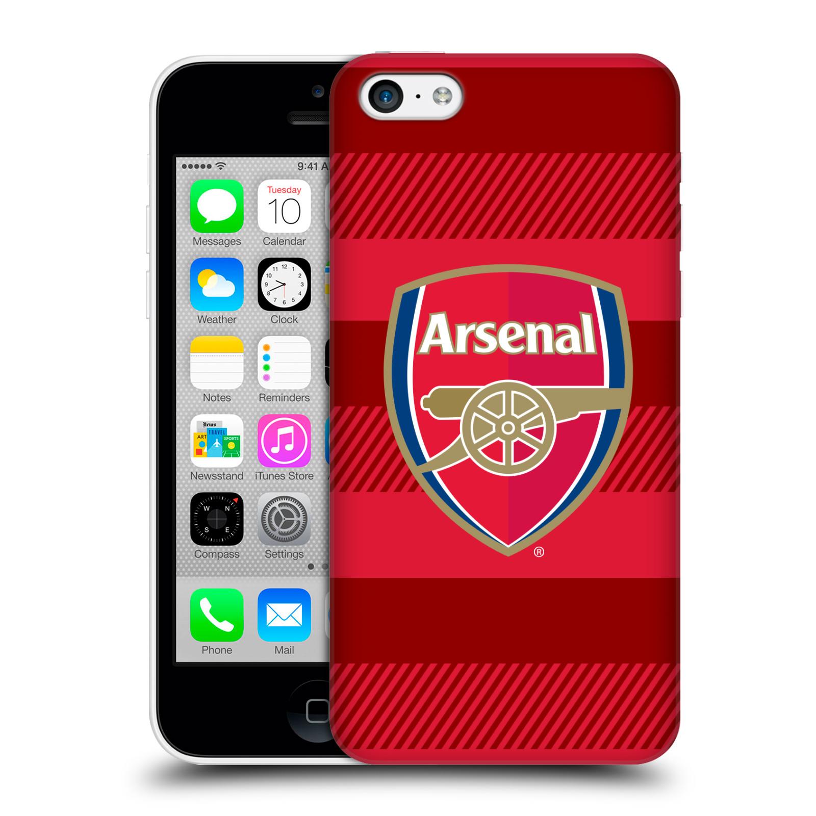 Plastové pouzdro na mobil Apple iPhone 5C - Head Case - Arsenal FC - Logo s pruhy