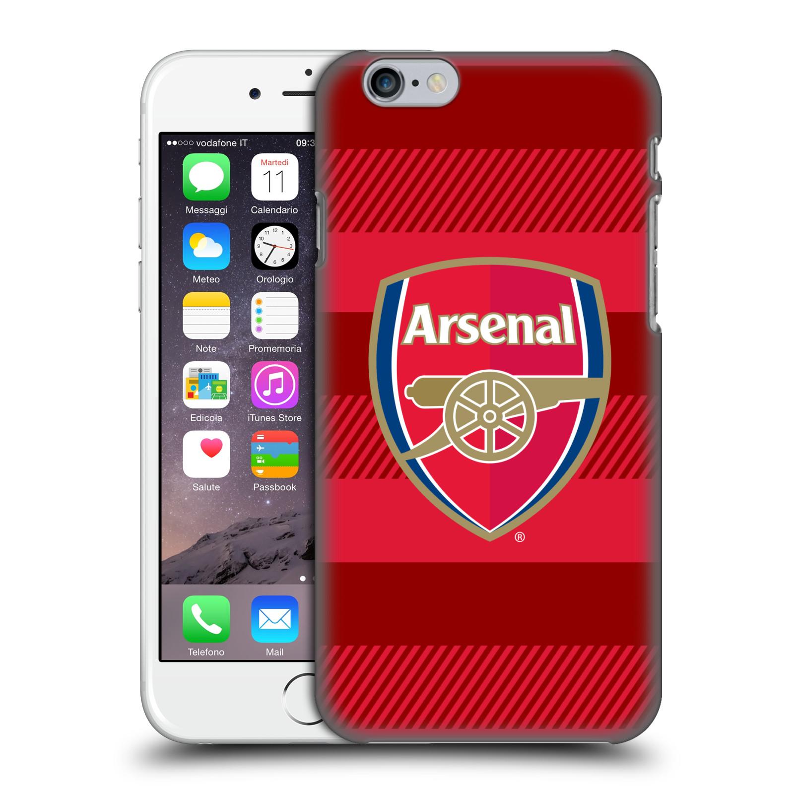 Plastové pouzdro na mobil Apple iPhone 6 - Head Case - Arsenal FC - Logo s pruhy