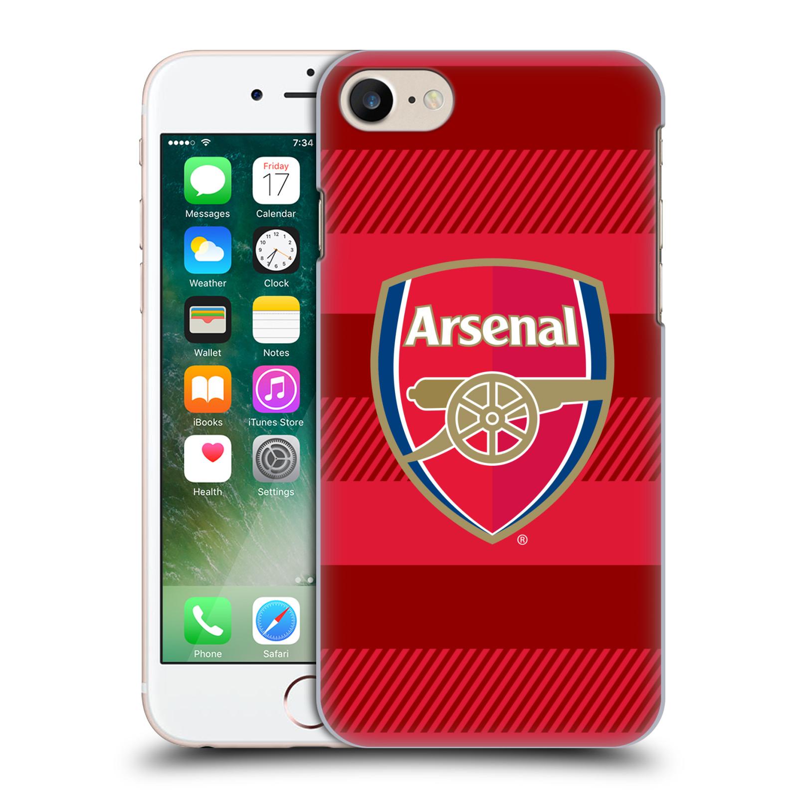 Plastové pouzdro na mobil Apple iPhone 7 - Head Case - Arsenal FC - Logo s pruhy