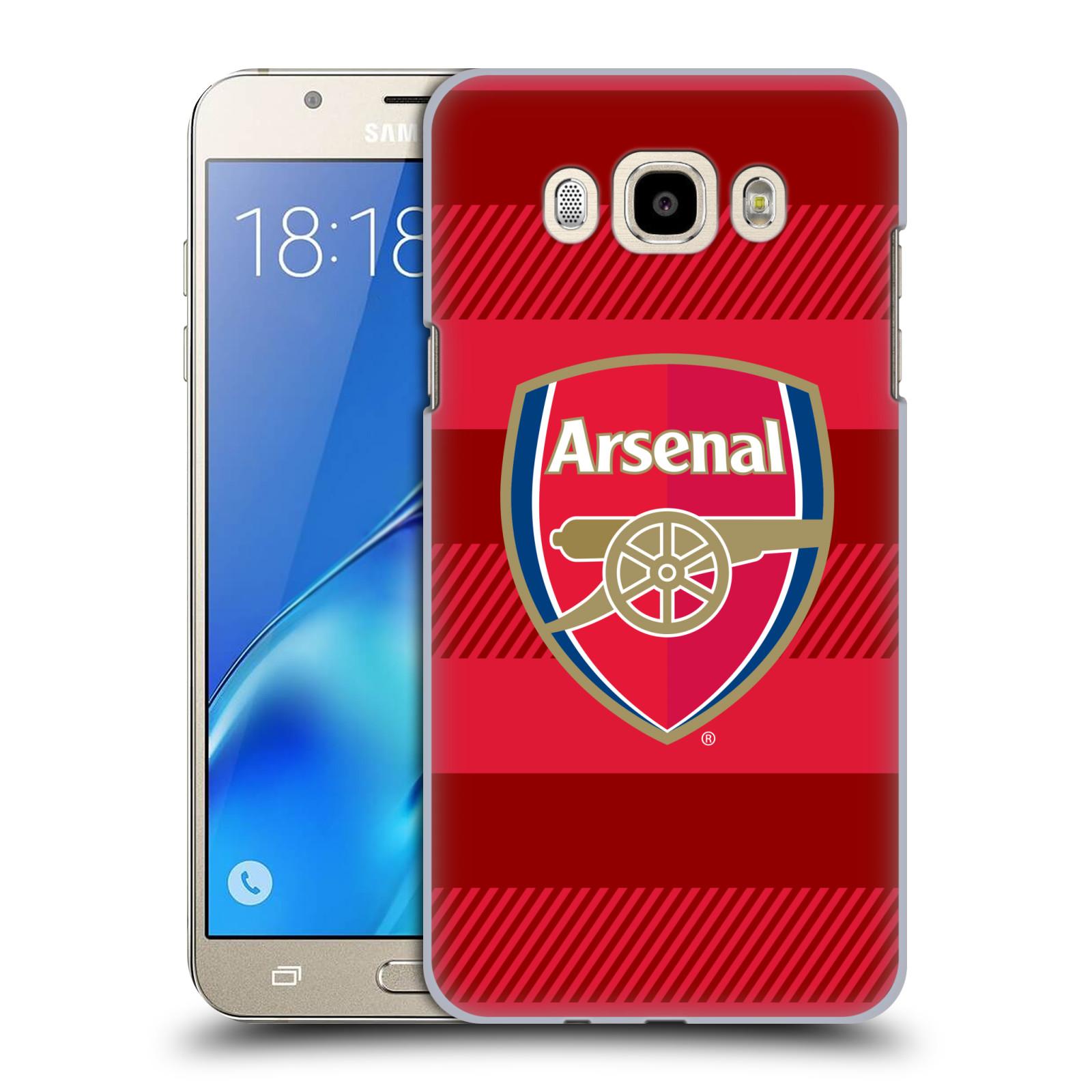 Plastové pouzdro na mobil Samsung Galaxy J7 (2016) - Head Case - Arsenal FC - Logo s pruhy