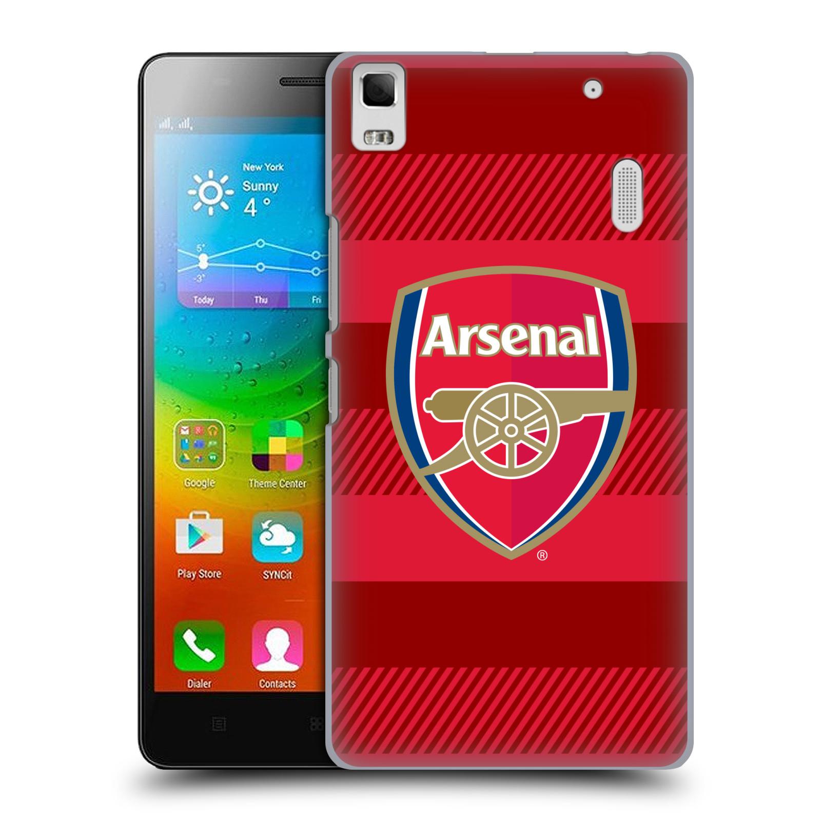 Plastové pouzdro na mobil Lenovo A7000 - Head Case - Arsenal FC - Logo s pruhy