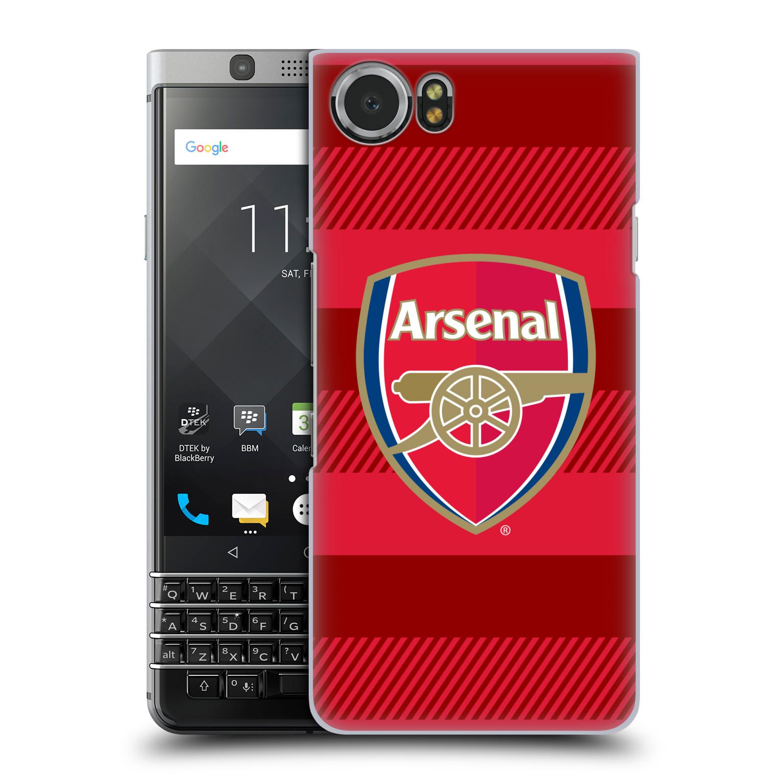 Plastové pouzdro na mobil BlackBerry KEYone - Head Case - Arsenal FC - Logo s pruhy