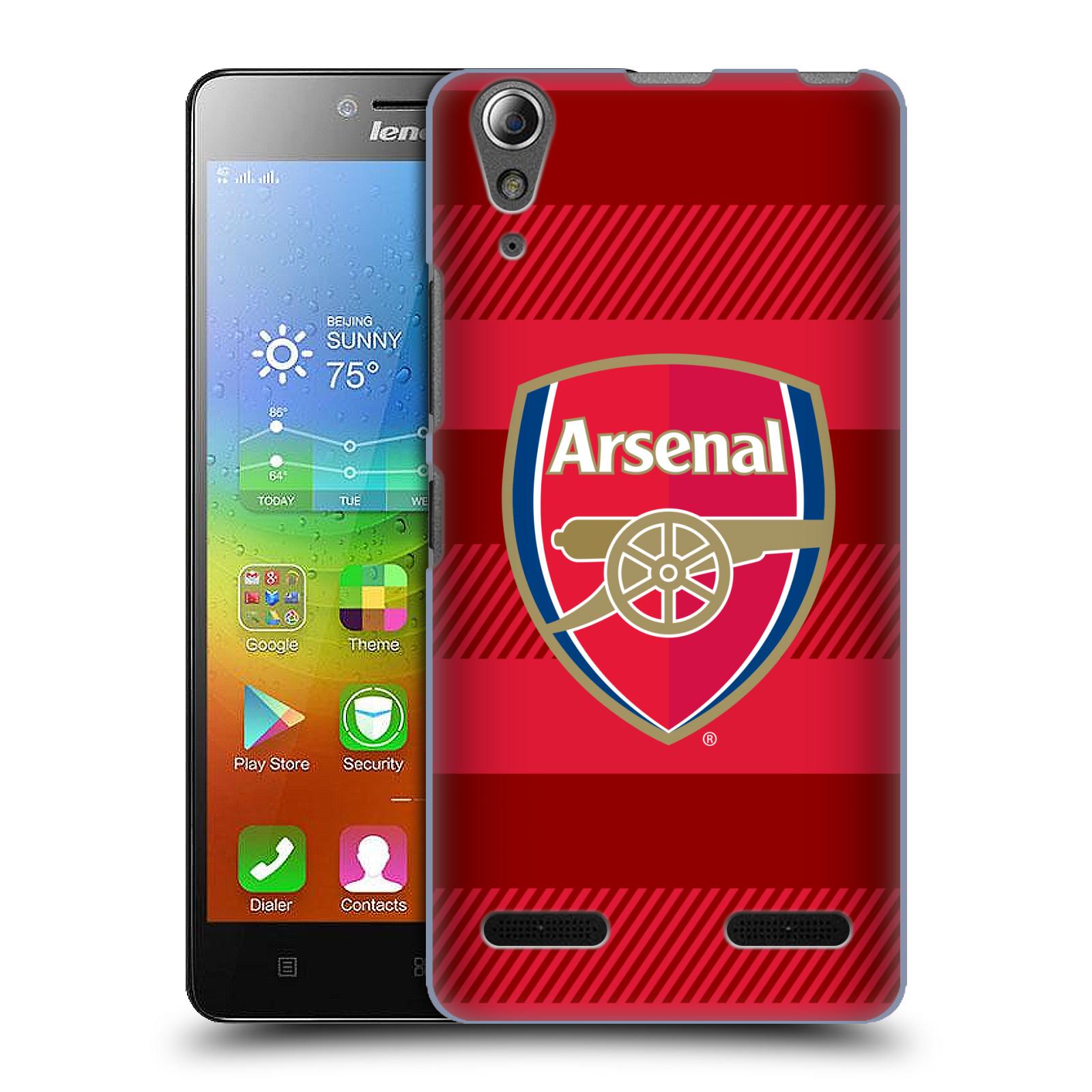 Plastové pouzdro na mobil Lenovo A6000 - Head Case - Arsenal FC - Logo s pruhy